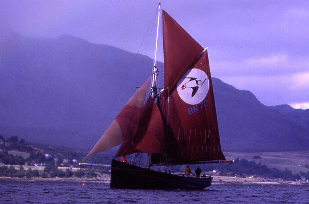Restored Britannia sailing boat using rose head boat nails