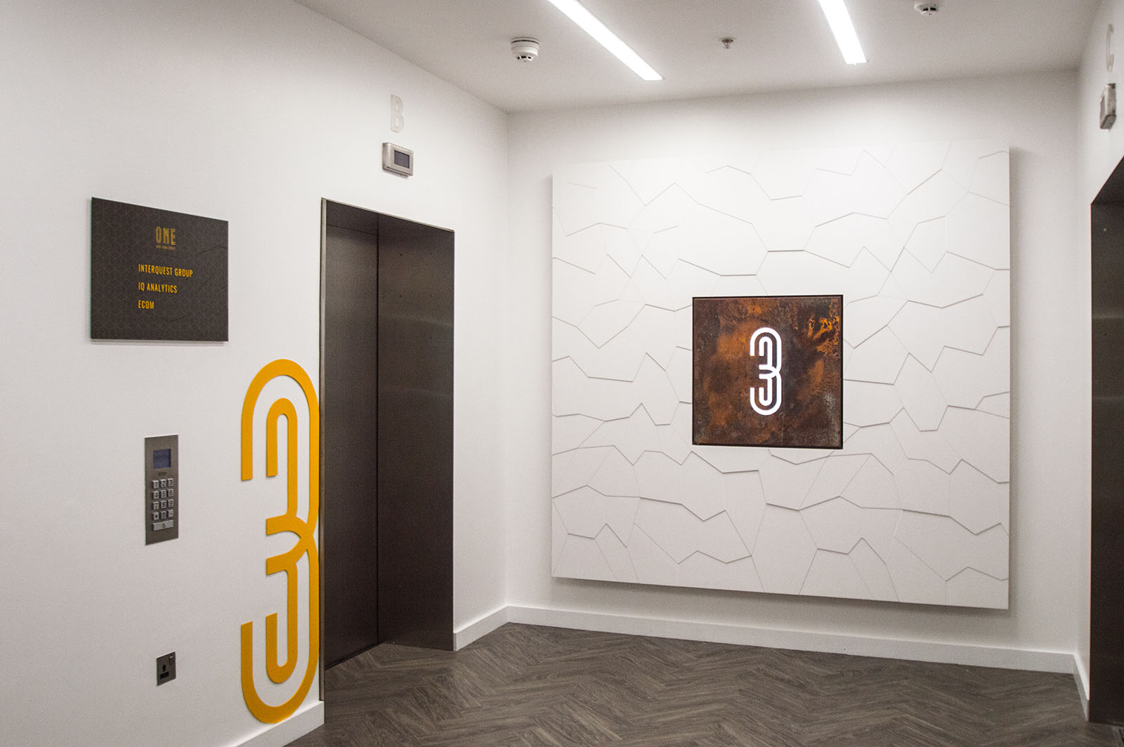 Lift Lobby with branding