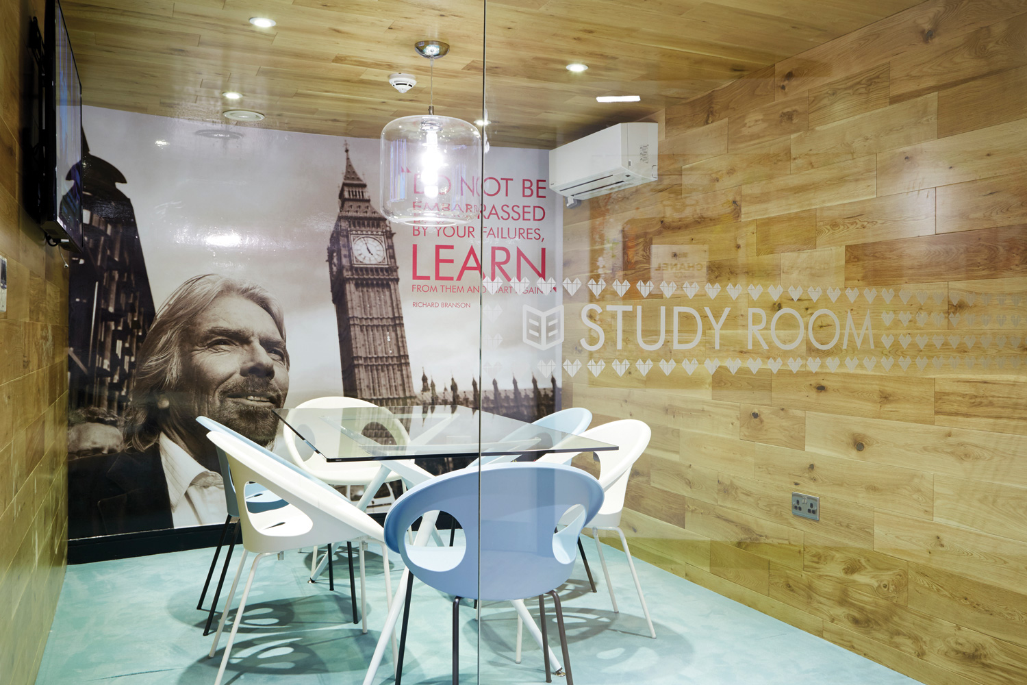 Study room manifestation and large graphic