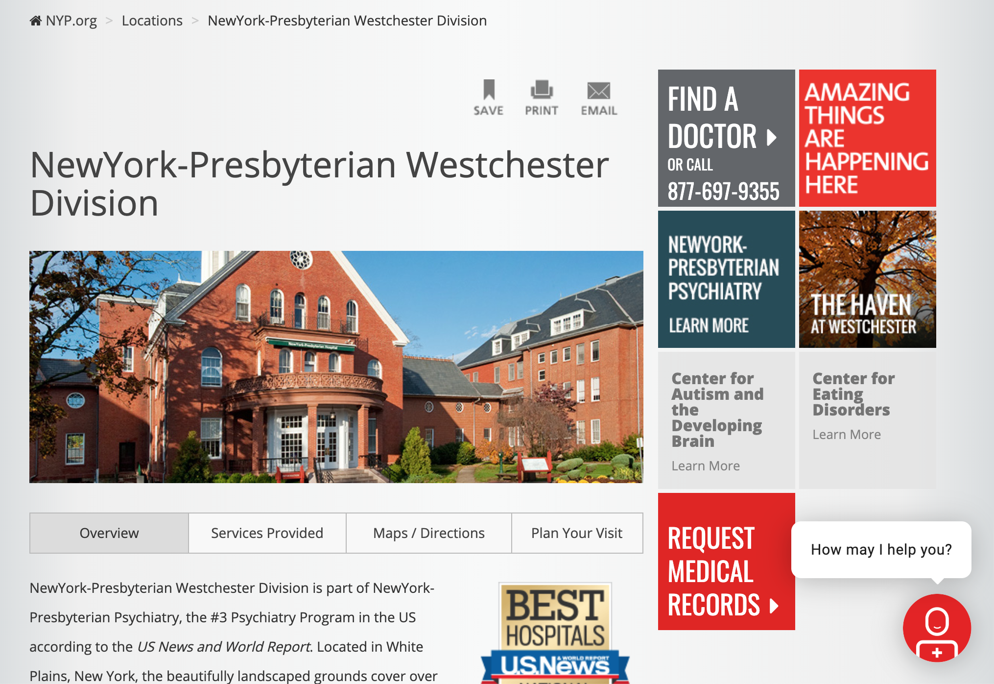 The New York Presbyterian Hospital — Pelham ther New York Presbyterian Hospital Map on