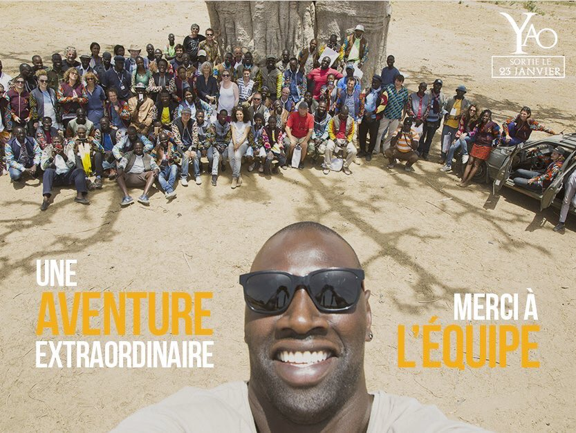 Les mercis d'OMAR SY - A la production de Pape M'bodj a l'occasion du tournage de son film au Sénégal: YAO. Production PAN EUROPEENE, Réalisation : Philippe Gaudon, Production Exécutive MBA productions, Pape M'Bodj…