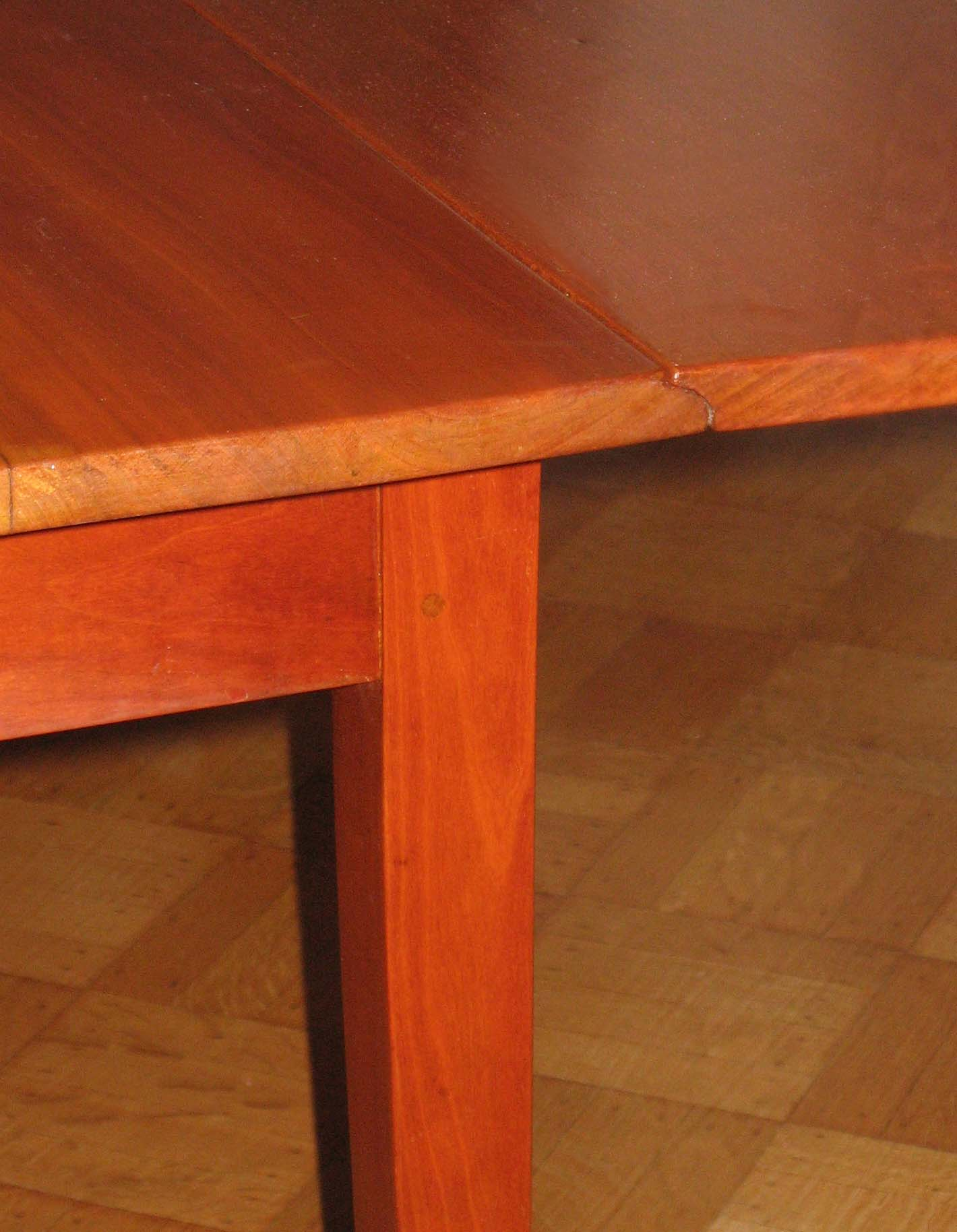 Shaker drop leaf cherry dining table