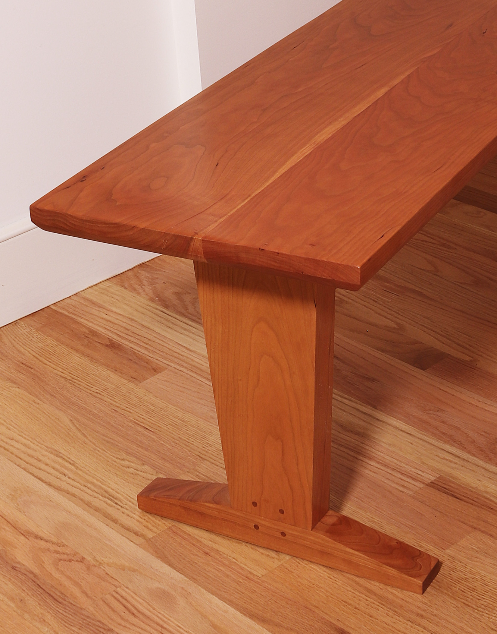 "Large cherry dining table bench: 54"" x 15"" x 18"" high"