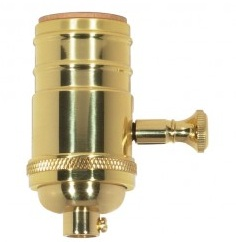 Brass Lamp switch either single On/off or dimmable