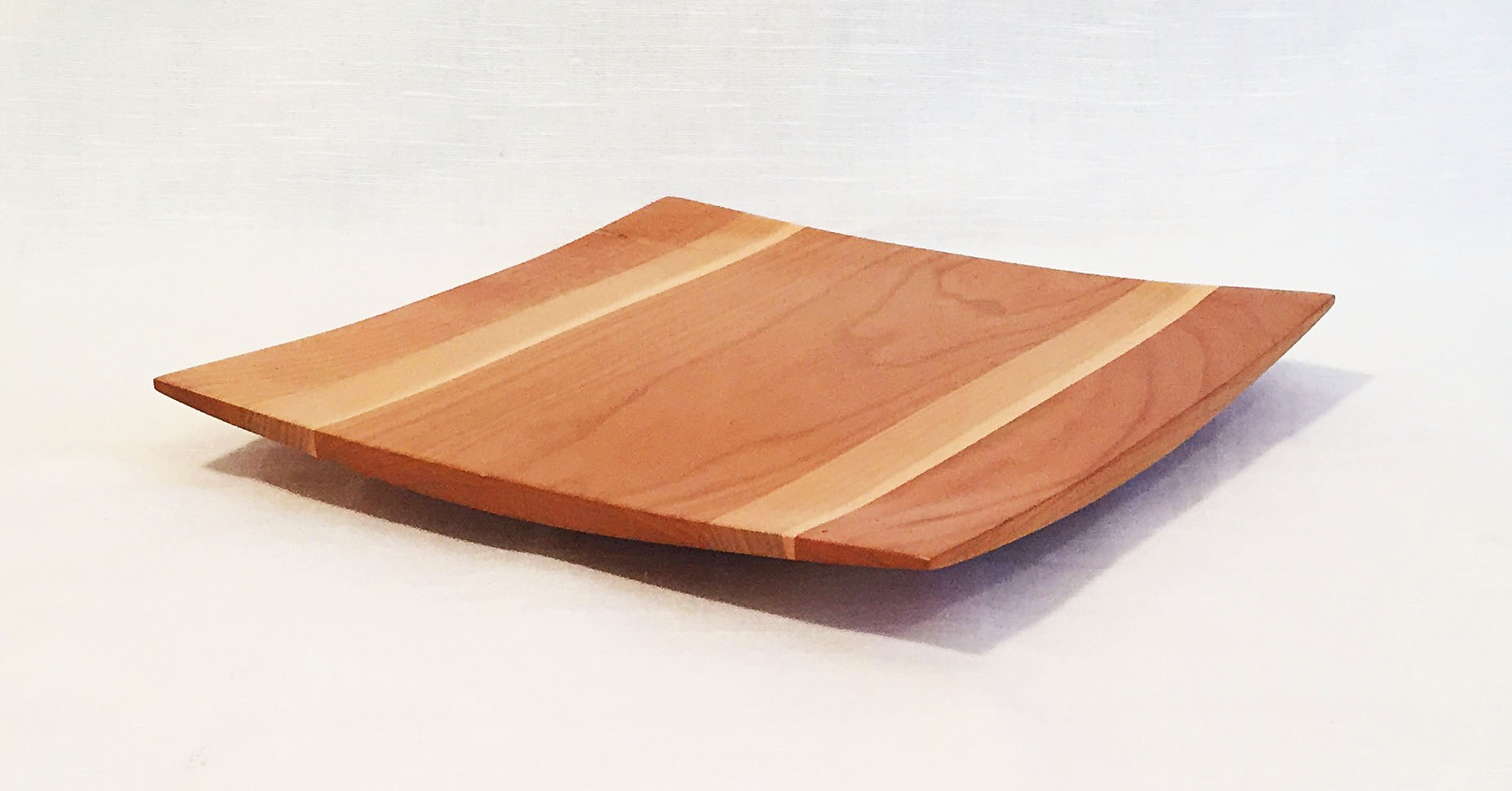 "9"" x 9"" Cherry/Maple Wing Tip Platter"
