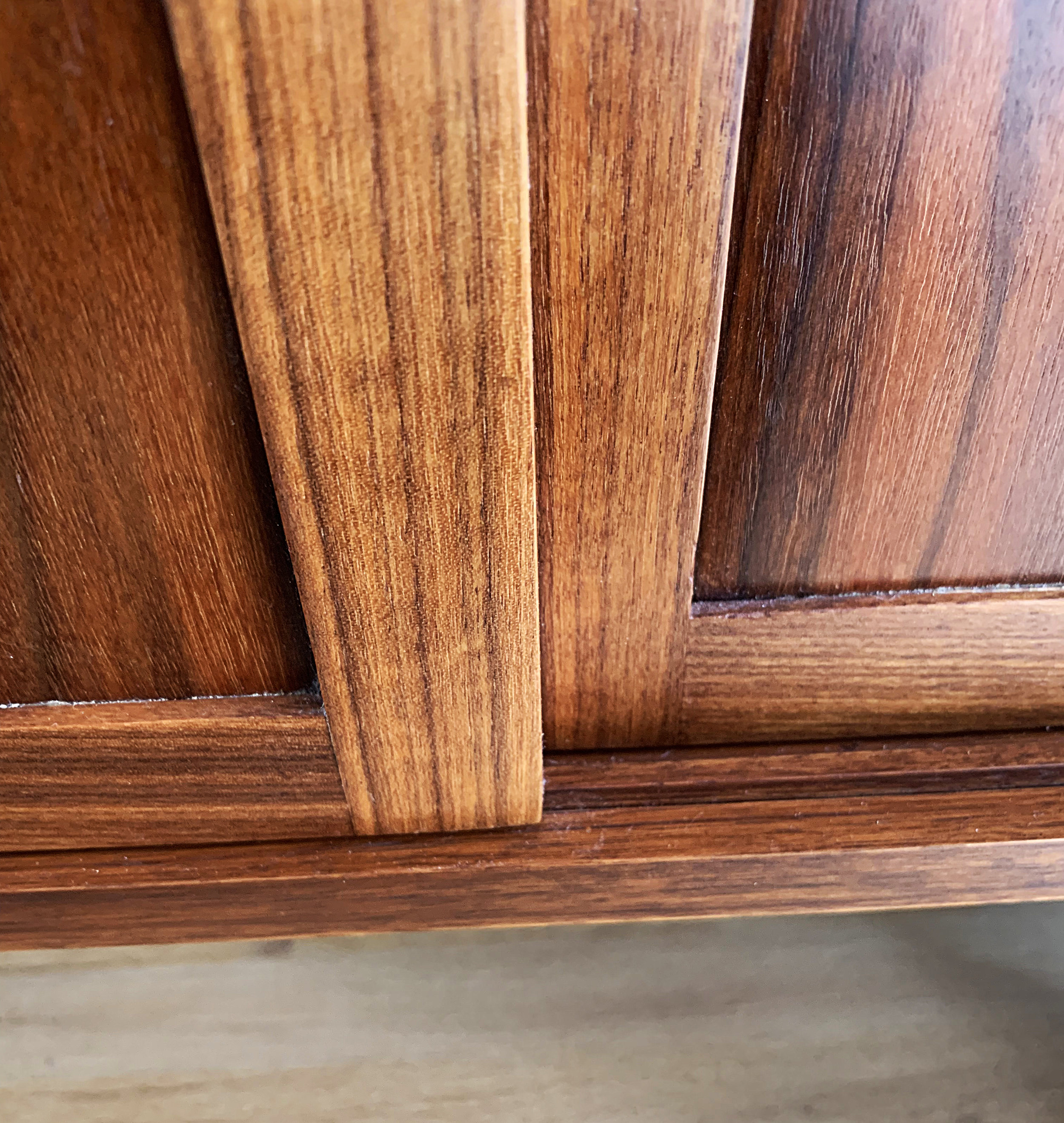 Walnut Credenza Side Door Details