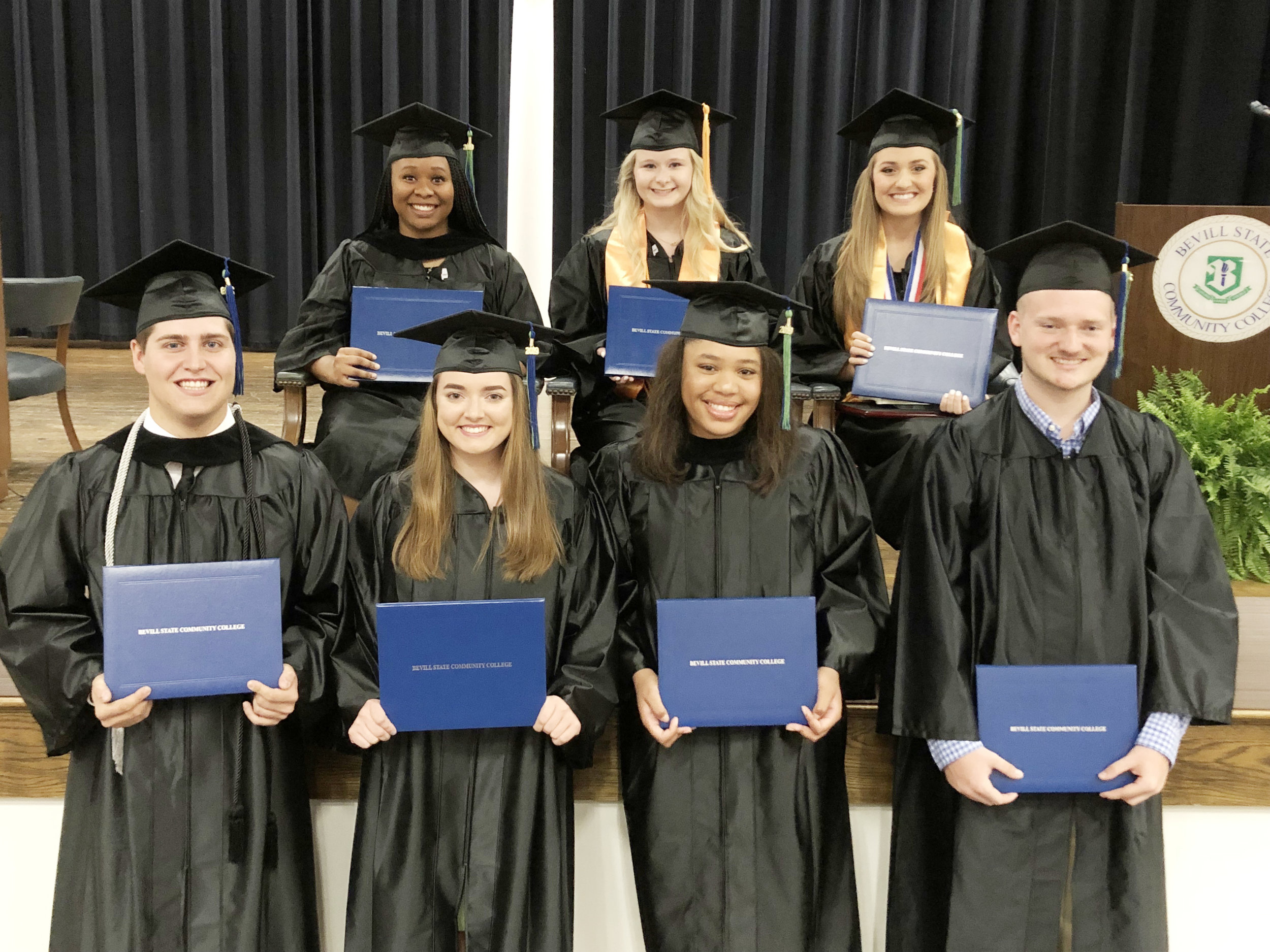 Eight 2019 scholar graduates walked across the stage at Bevill State's commencement ceremony.