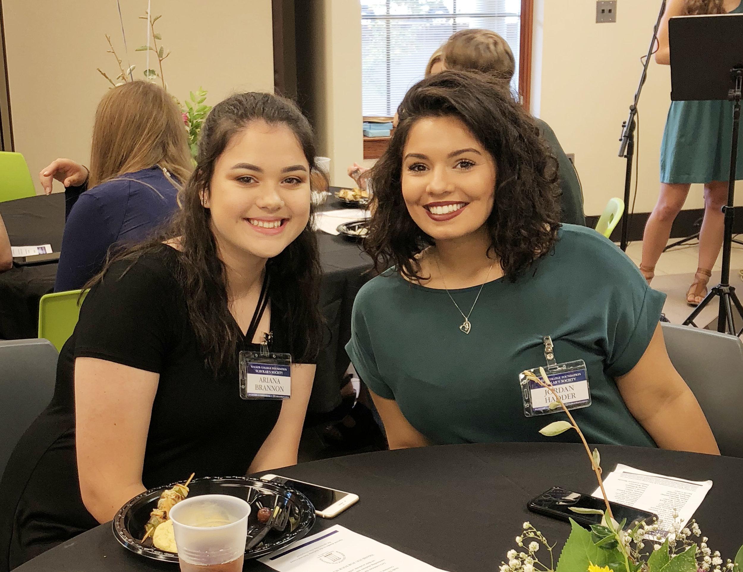 Arianna and Jordan at scholarship reception.