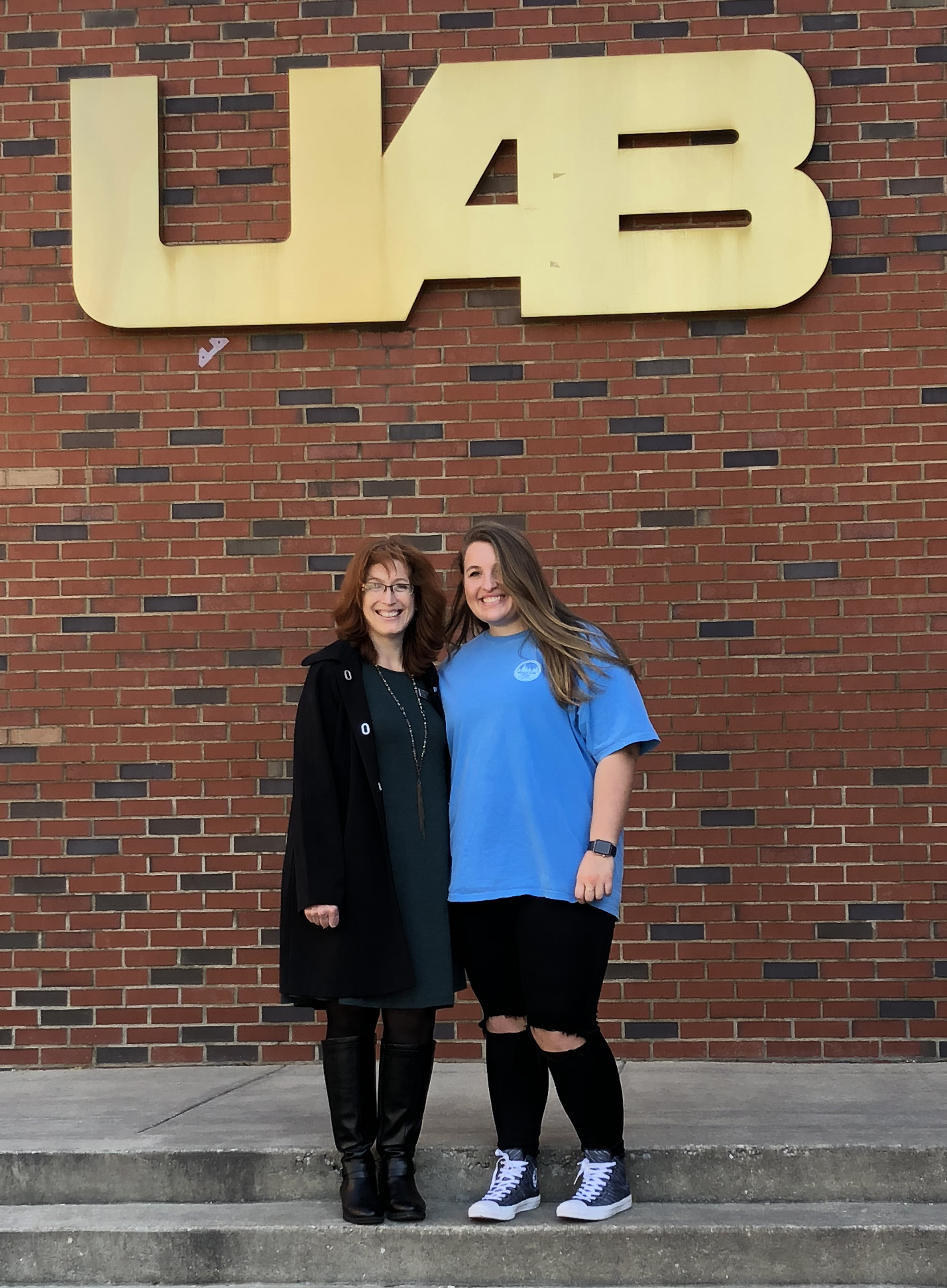 WCF's Holly Trawick and Taylor Rowe during a college visit. Taylor is continuing her education at UAB for Physical Therapy.