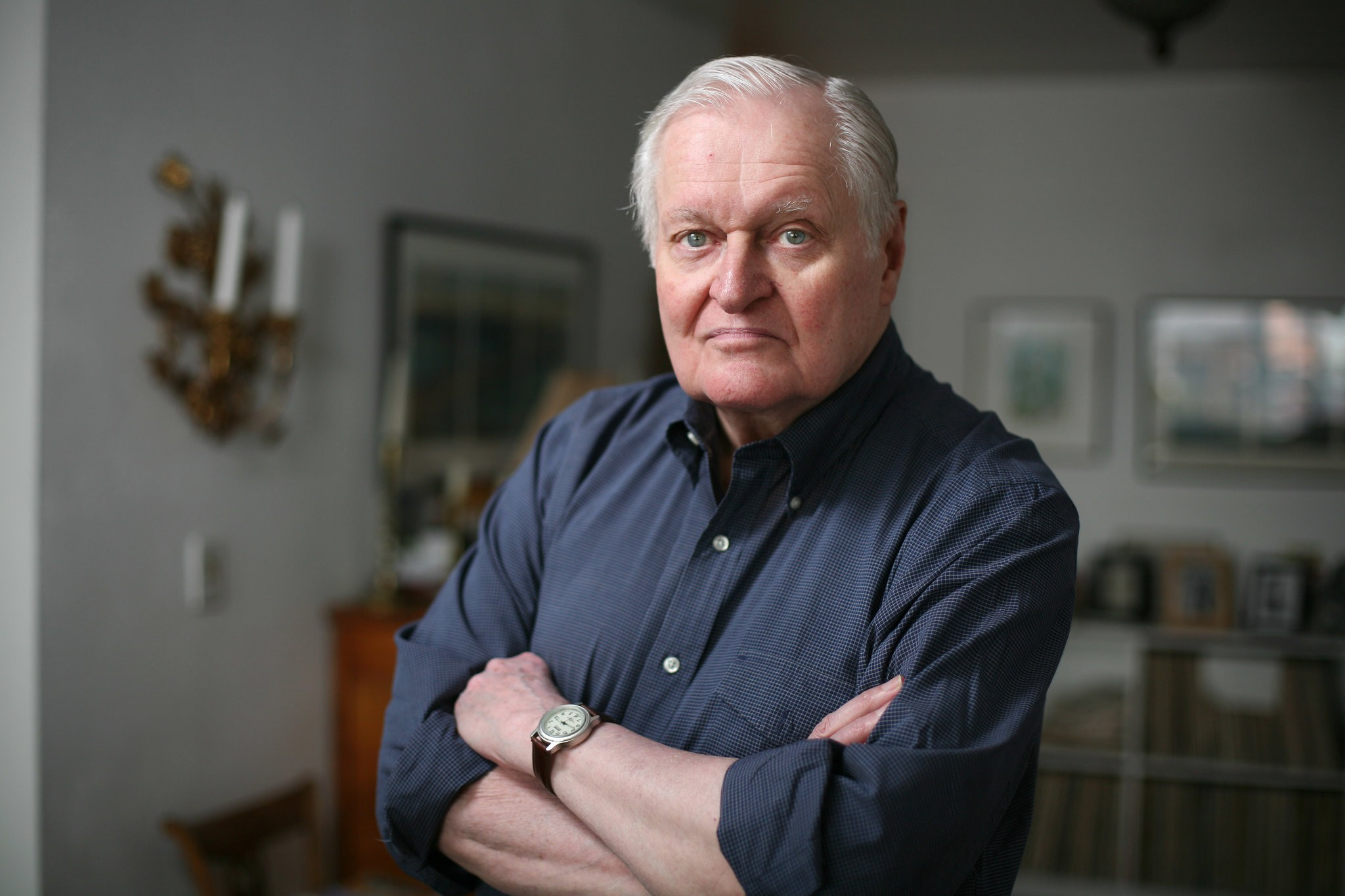 The poet and artist John Ashbery, in 2008. Photo credit Michael Nagle for  The New York Times