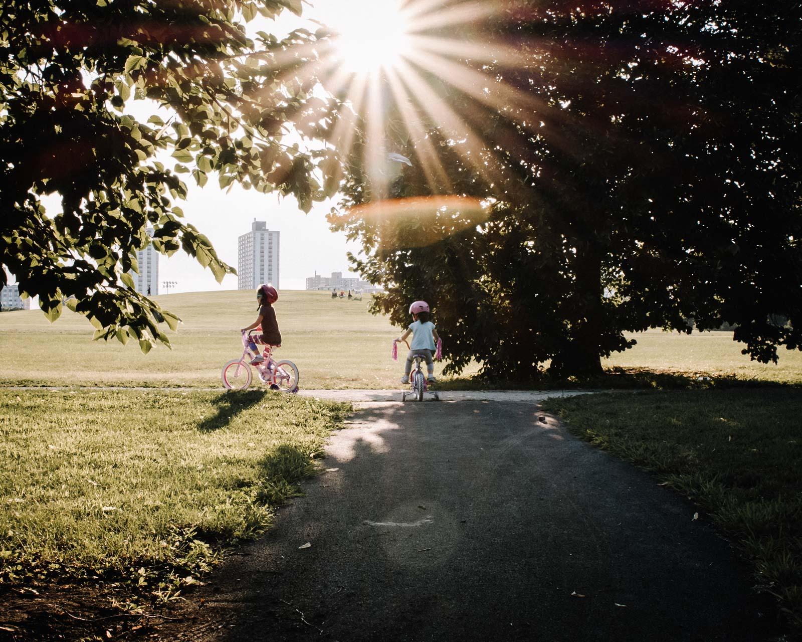 bike ride at sunset. Alicia Mayorca Photography | Chicago Couple + Maternity + Family Photographer.jpg