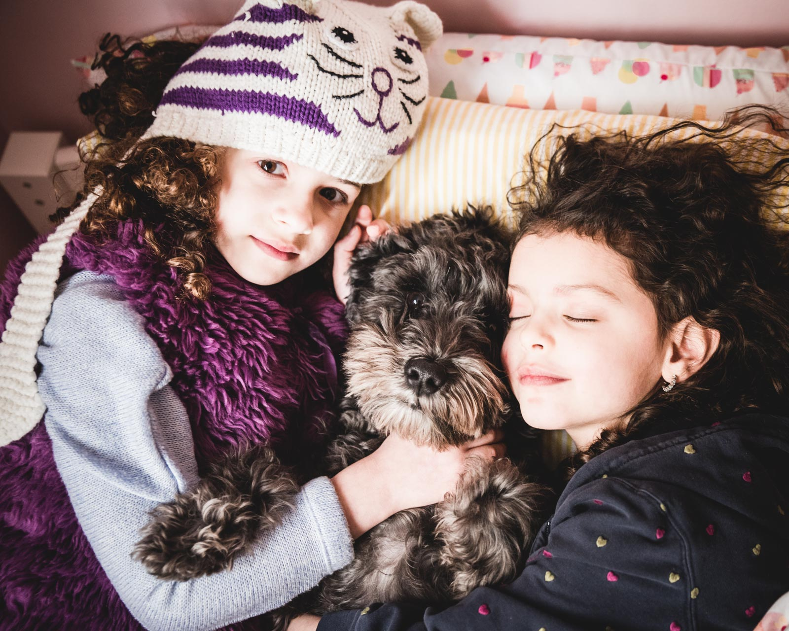 sisters and dog. Alicia Mayorca Photography | Chicago Couple + Maternity + Family Photographer.jpg