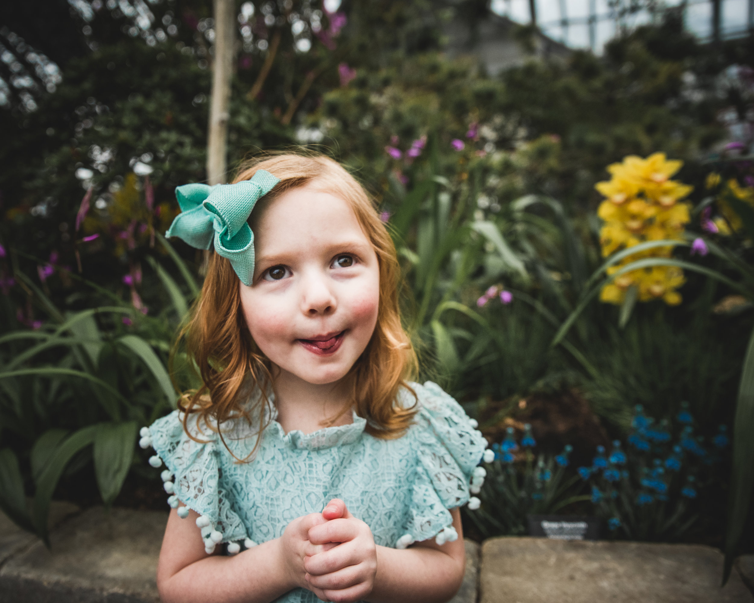 Chicago Family Photography Session at the  Garfield Conservatory
