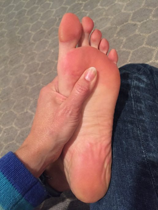 De-stress Button: the Solar Plexus reflexology point