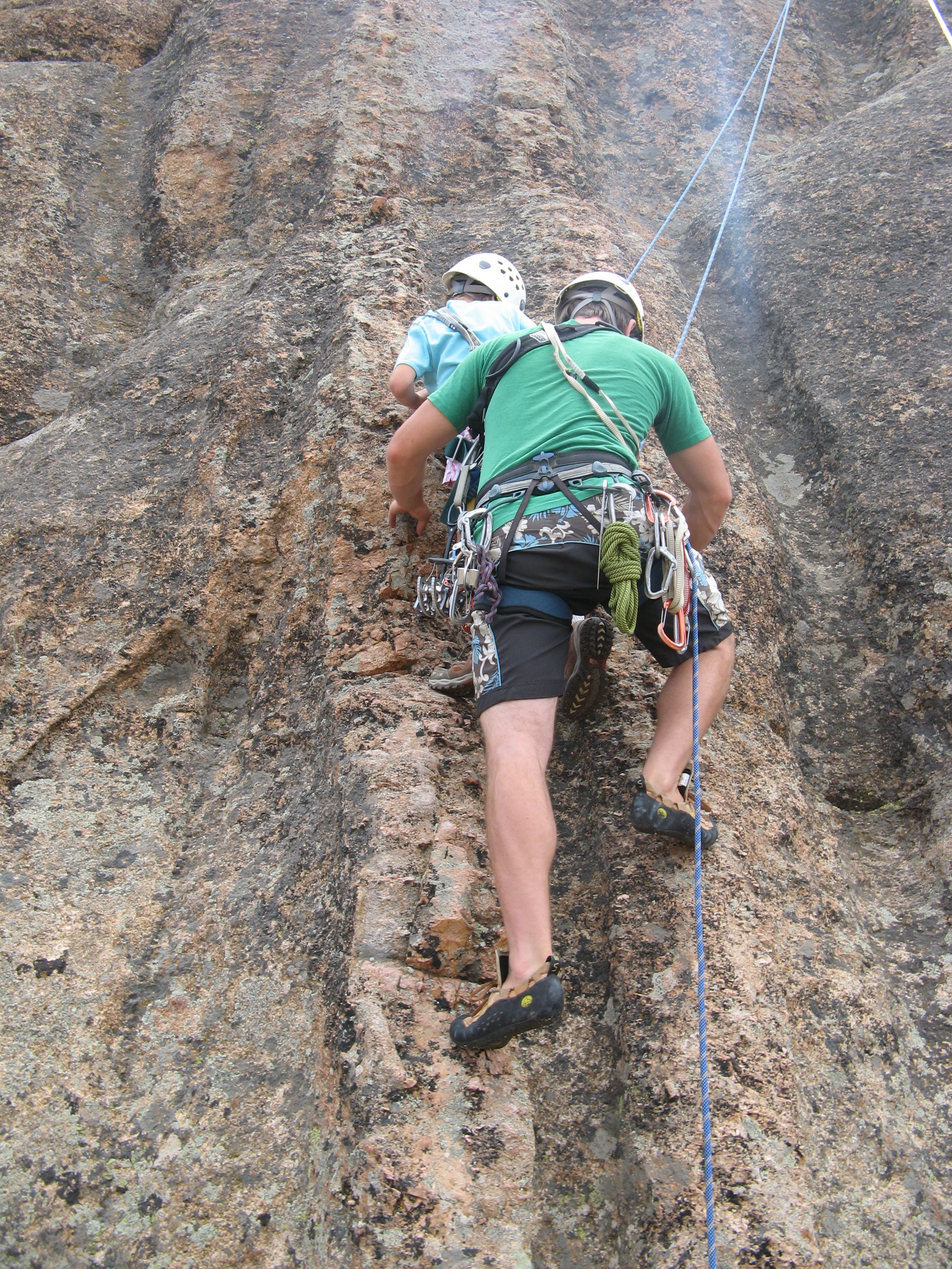 Kate rock climbing!