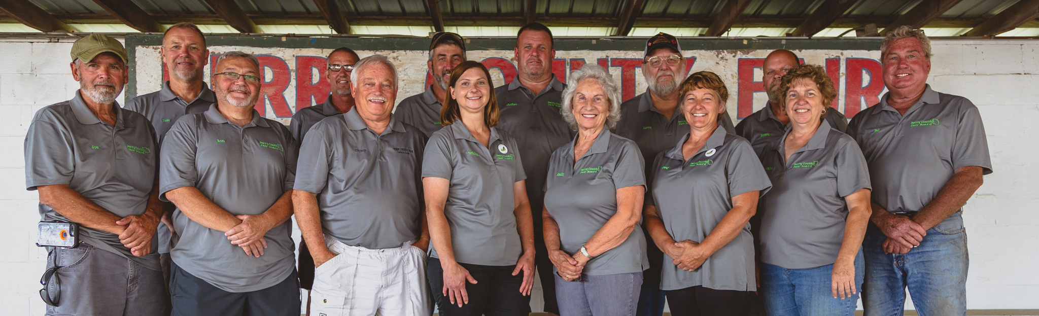 The Perry County Fair Board on the first day of the 2018 Fair.