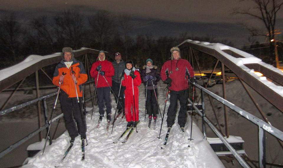 Winterfest moonlit skiing at Vischer Ferry Preserve, 2017.