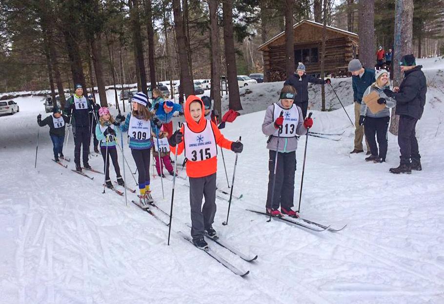 Bill Koch skiers start the Shen Classic Race, 2017.