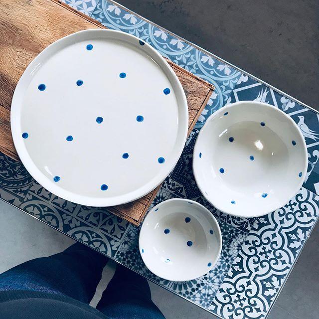 Dots. Part of a custom order 💙#plateandbowl #blueandwhitehome #blueandwhitechina #whitestoneware #blueengobe #cobaltblue #summerytableware #blåkeramik #potter #loveceramic #ceramicart #wheelthrownbowls #bluepainting #svensktporslin #blueandwhiteceramics #blueandwhitekitchen #handmadeceramic #handmadeinsweden #blueceramics #blueandwhite #loveceramic #hyggelife #bluedots #stilrent #blåporslin
