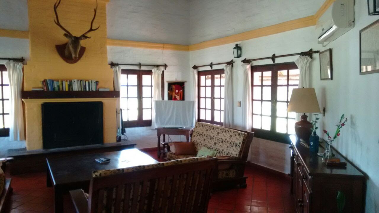 Hunting lodge living room
