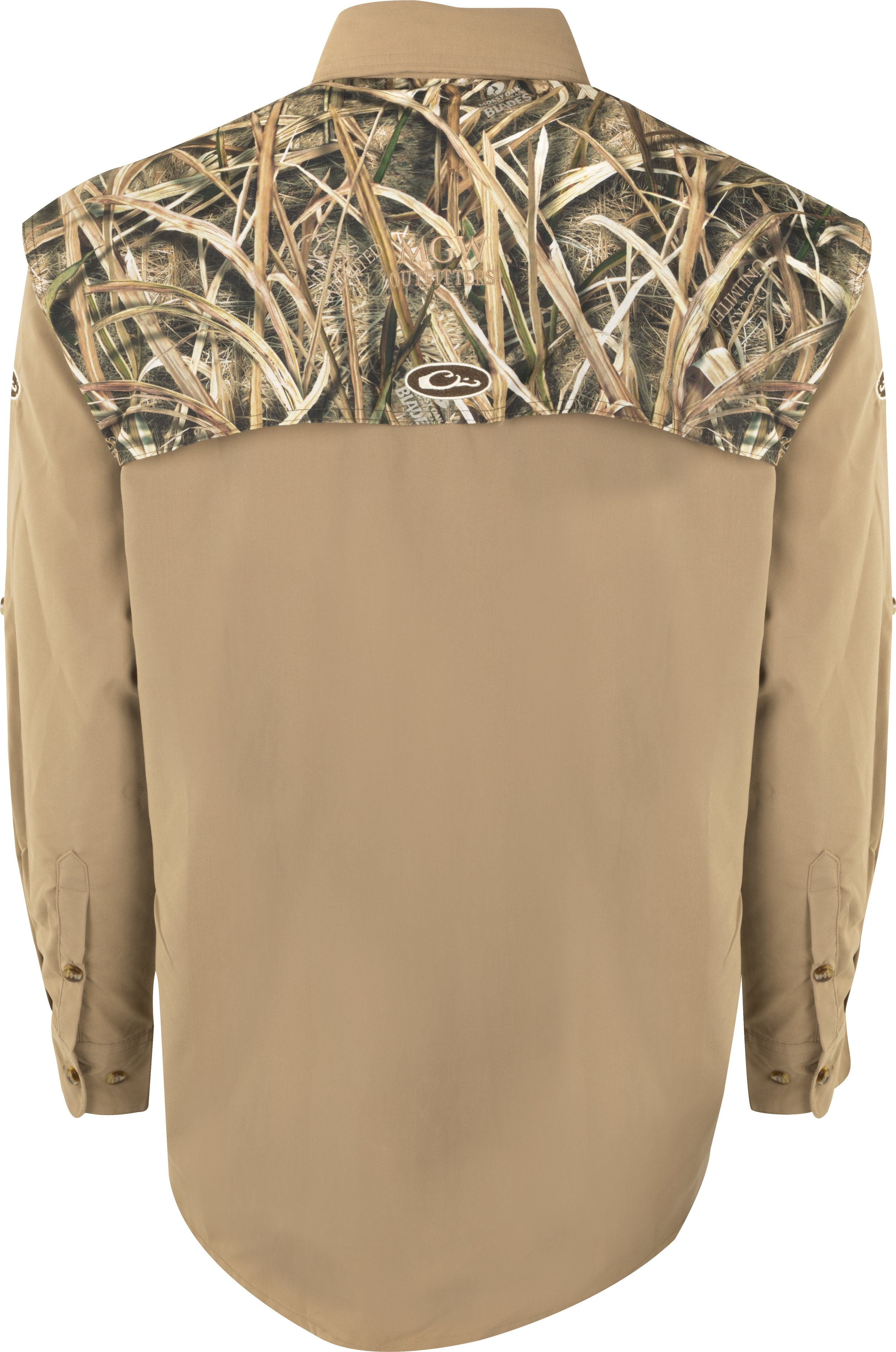 Drake Two-Tone Blades Camo Flyweight Wingshooter's Shirt L/S  - $80