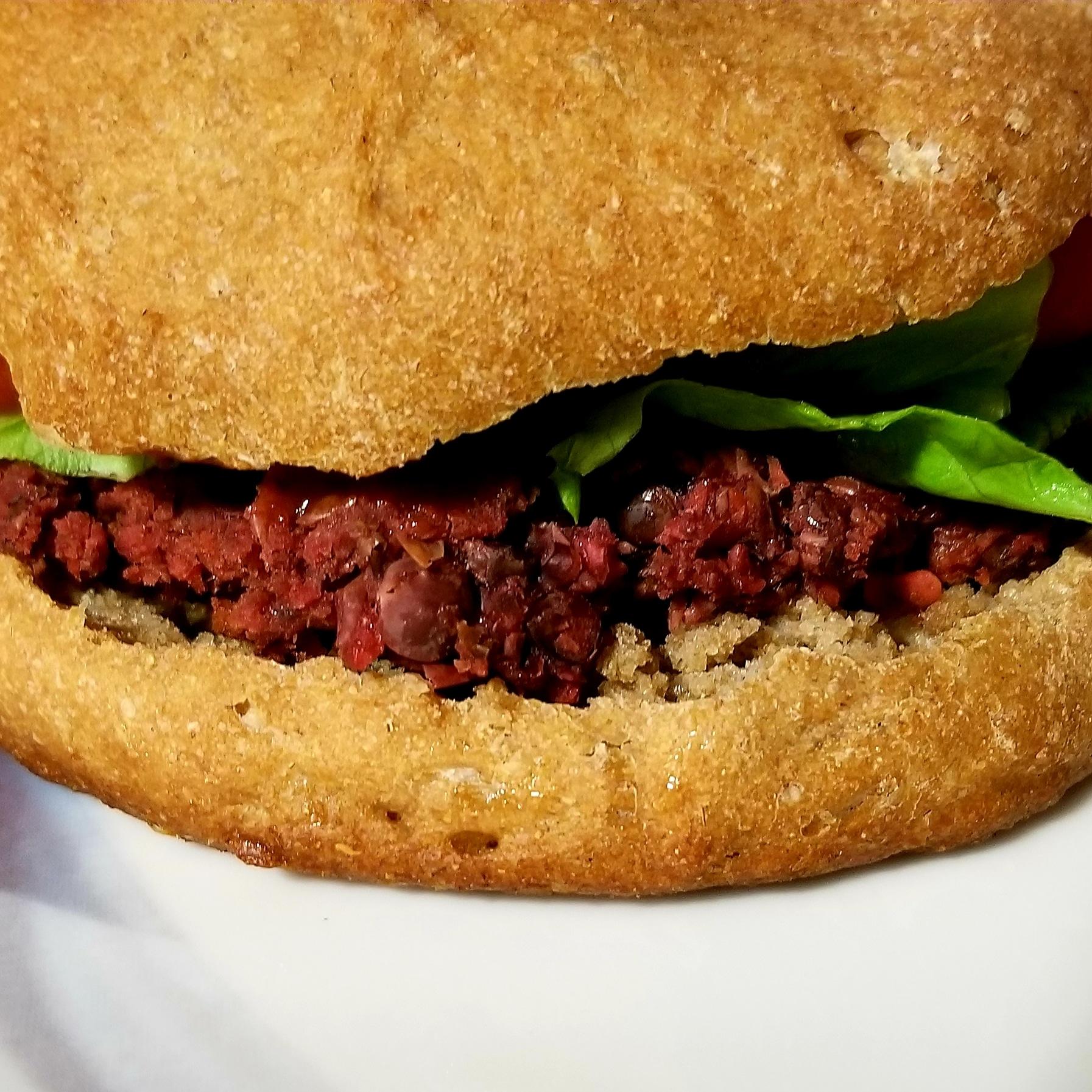 Lentil Beet Burgers -