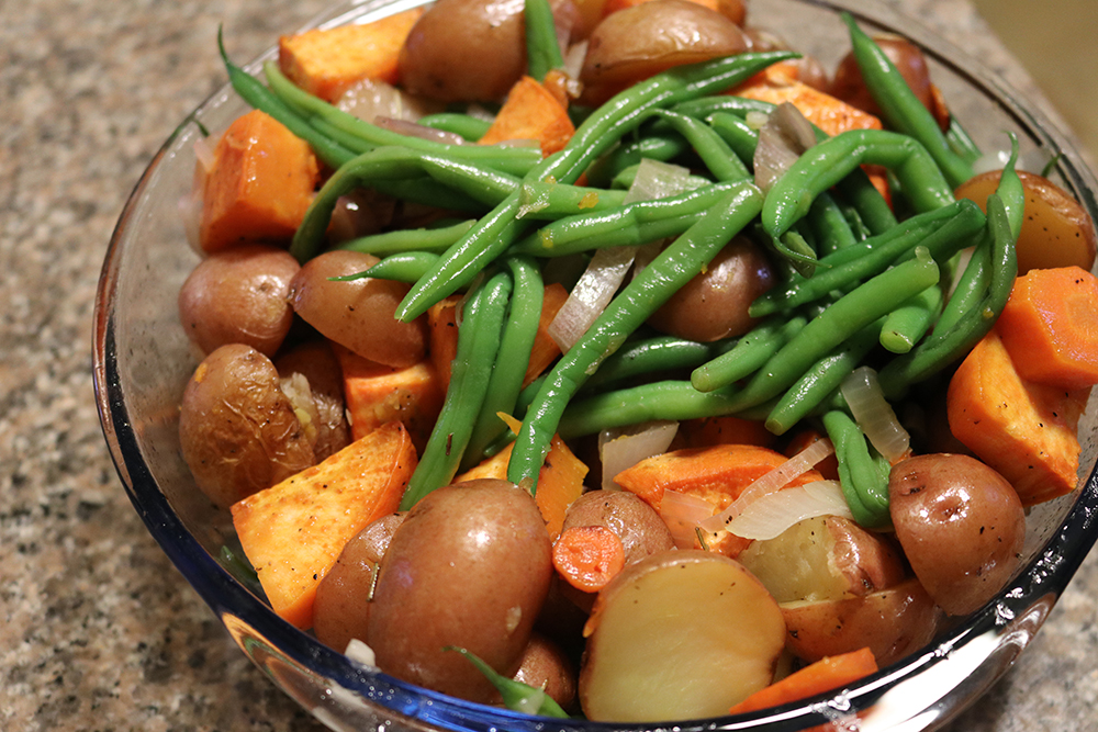Vegan Lemon Roasted Veggies -