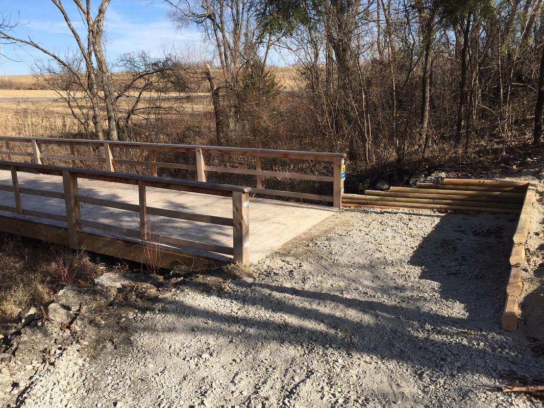 December 2016 - Rerouted trail near Walmart Bridge
