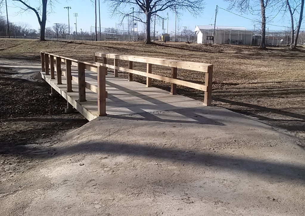 January 2014 - Bridge design by Pfefferkorn Design & Construction LLC; installation by Paola Public Works Department