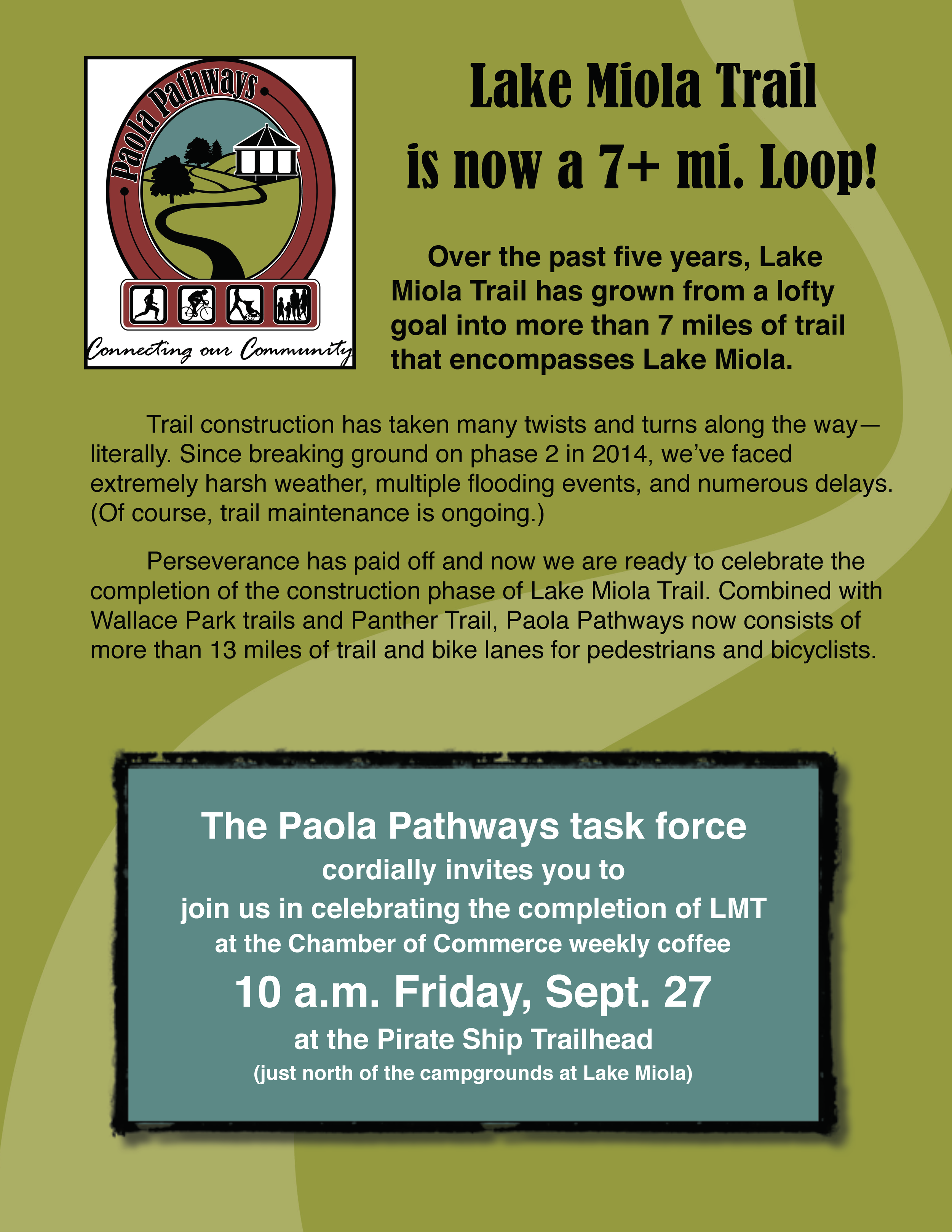 Paola-Pathways-Lake-Miola-Trail-Completion