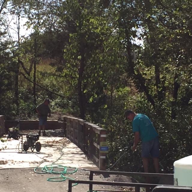 September 2017-task force power washing bridge