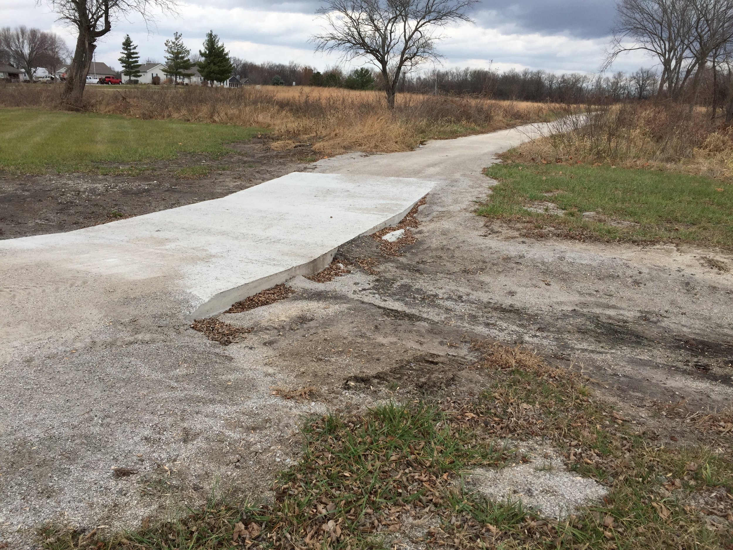 December 2017-concrete repairs on west side