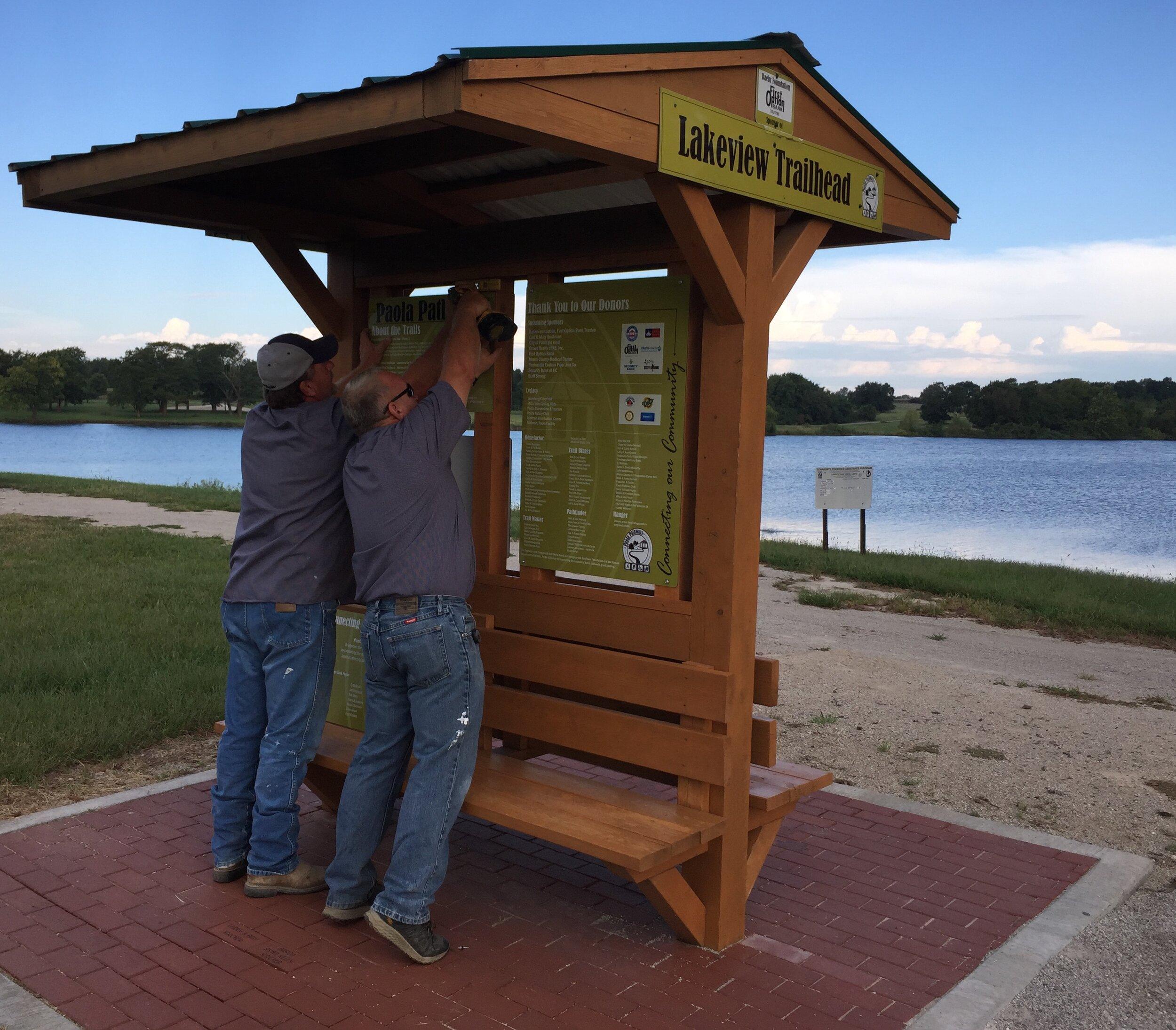 September 2019 - Installing kiosk signage