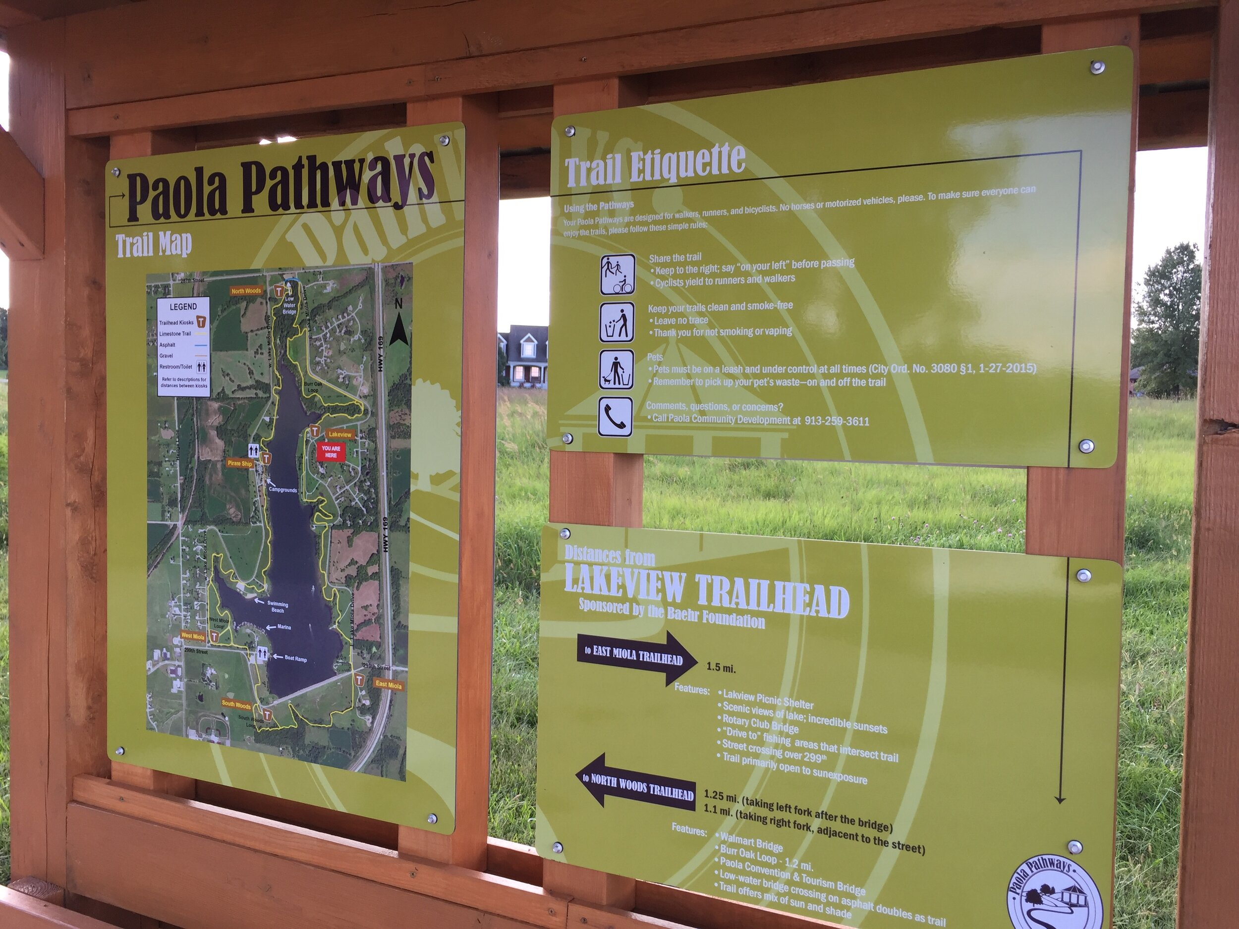 Sept. 2019 - Six kiosks feature trail map and info