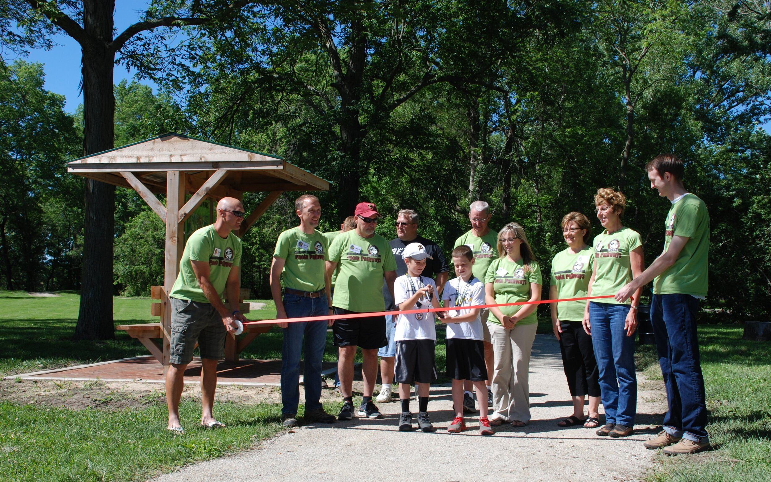 June 13, 2014-Ribbon cutting ceremony opening inaugural trails of Paola Pathway