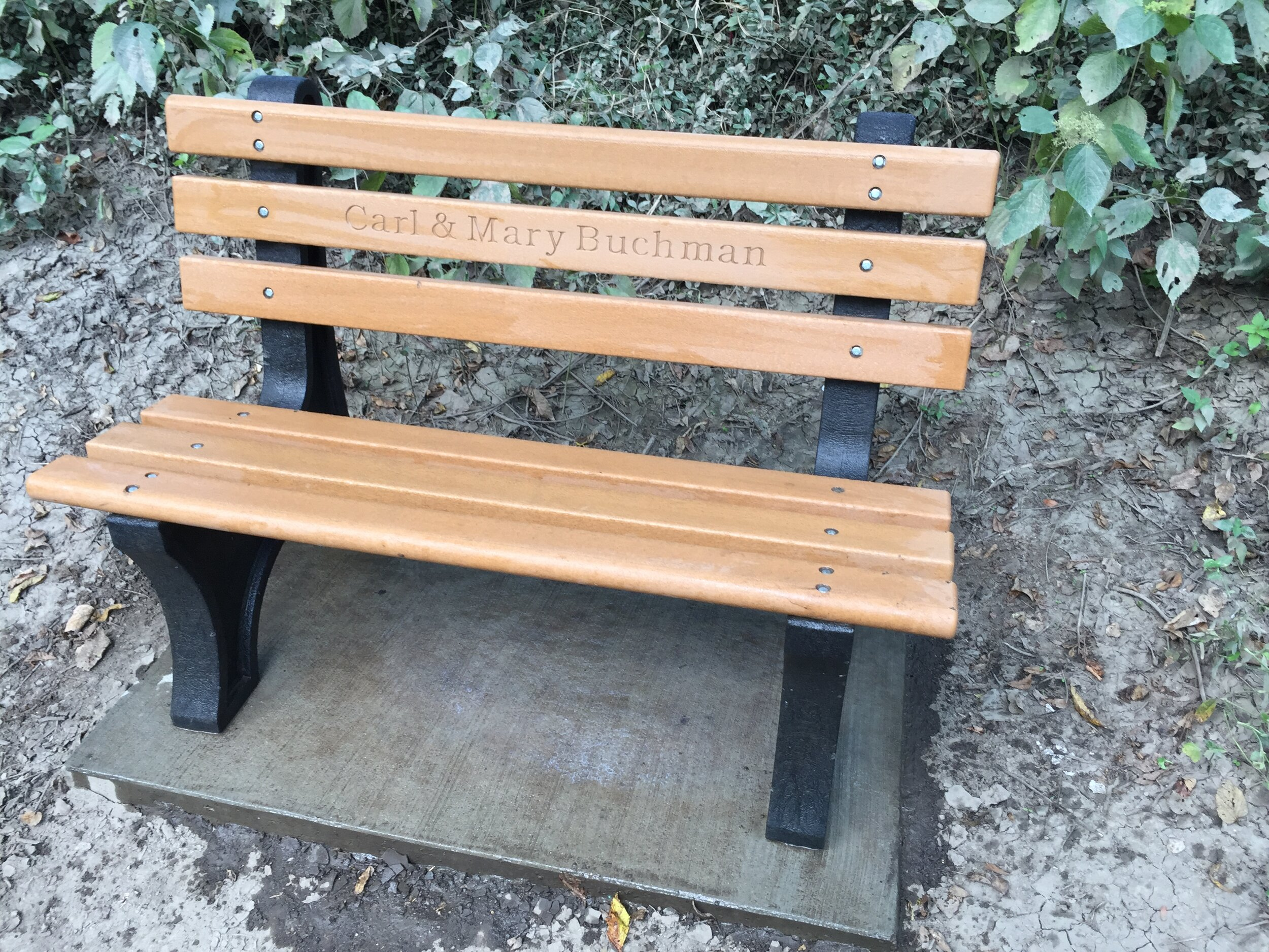 Benches cleaned by volunteer after flooding event