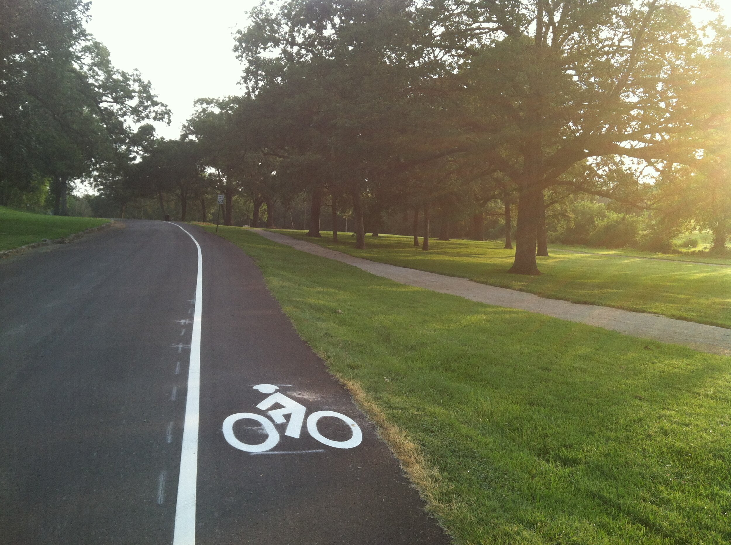 Bike lane added on Wallace Park Drive