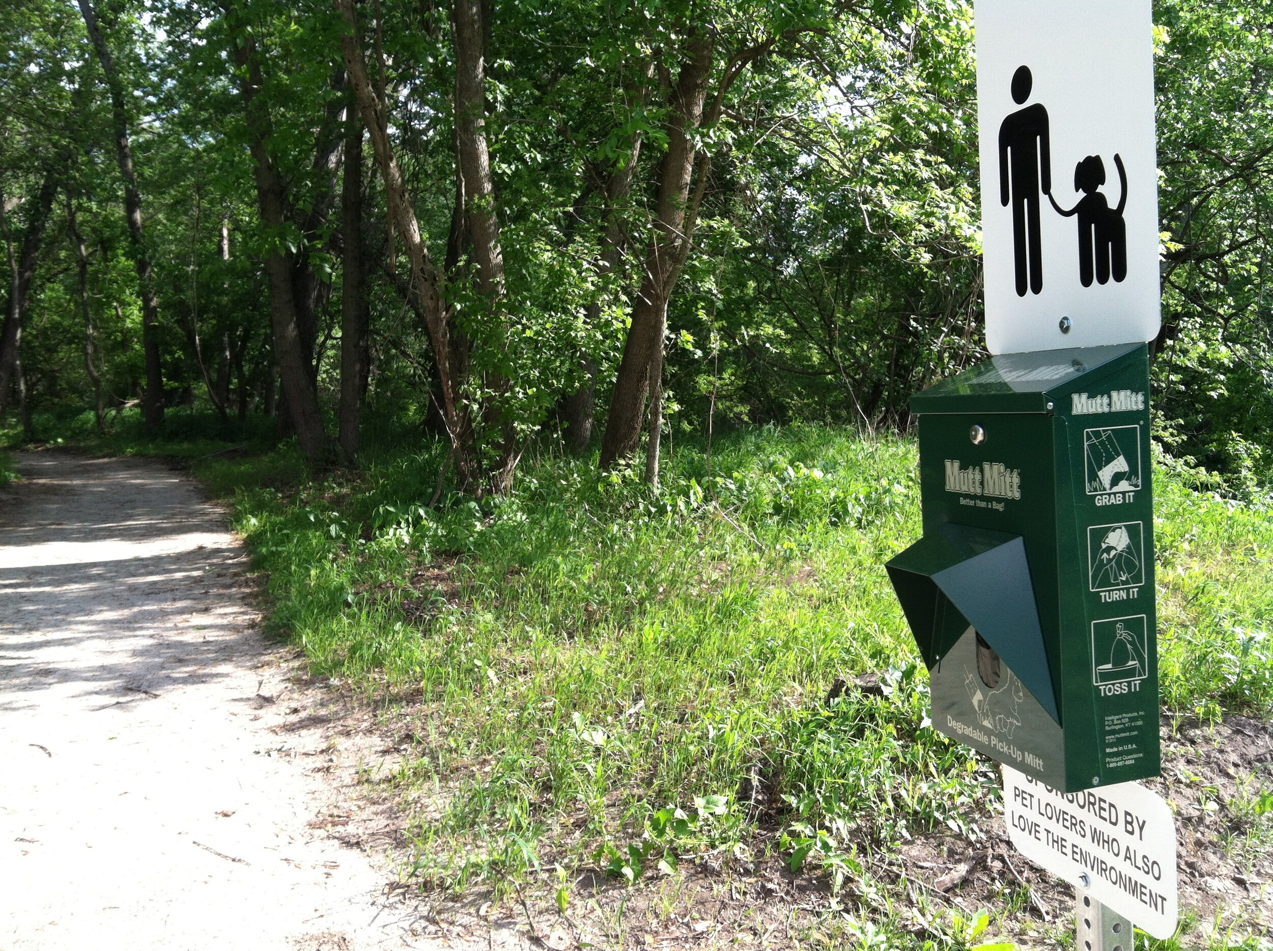 Pet waste stations installed near all trailheads.