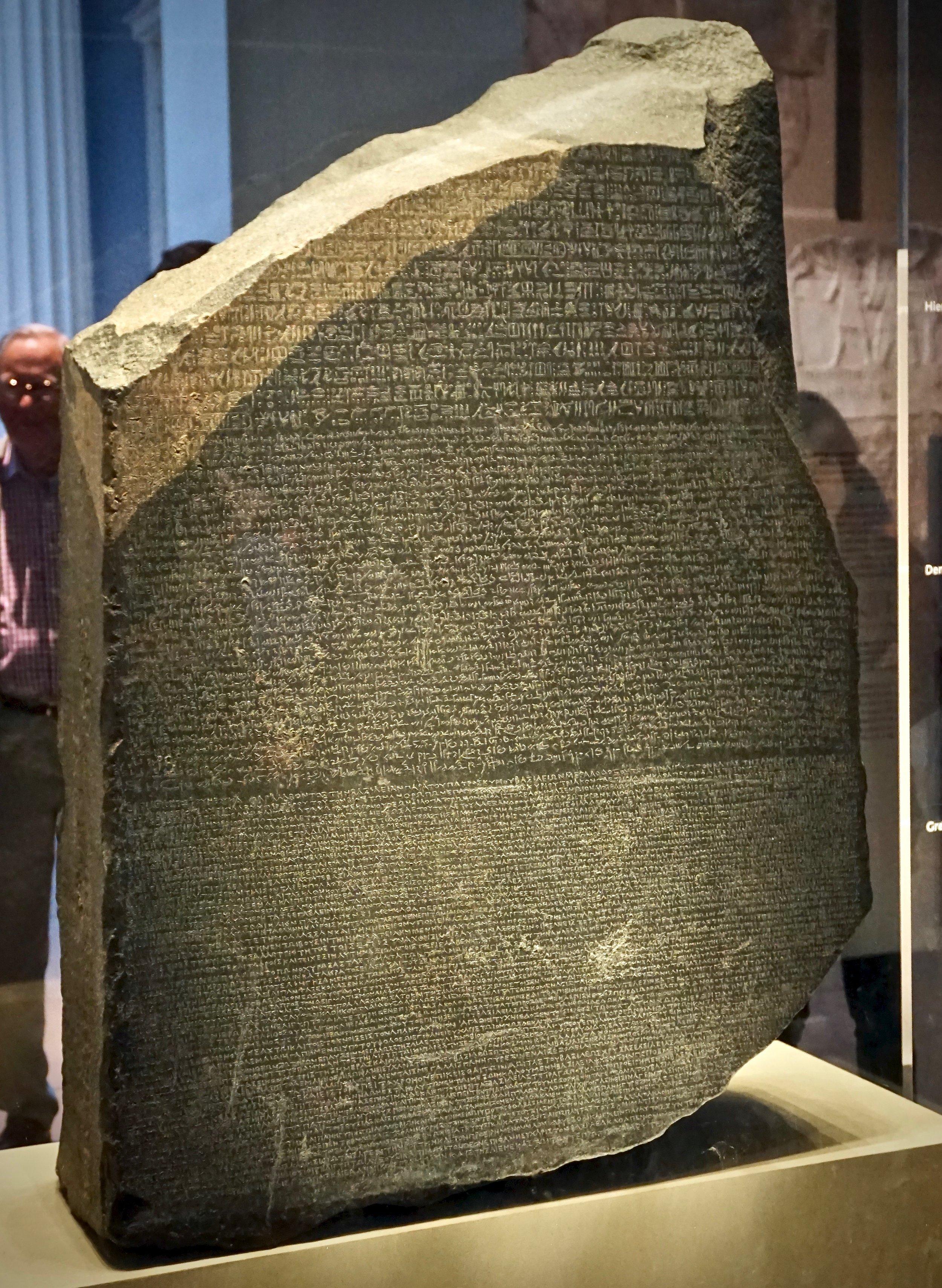 Rosetta Stone. British Museum.