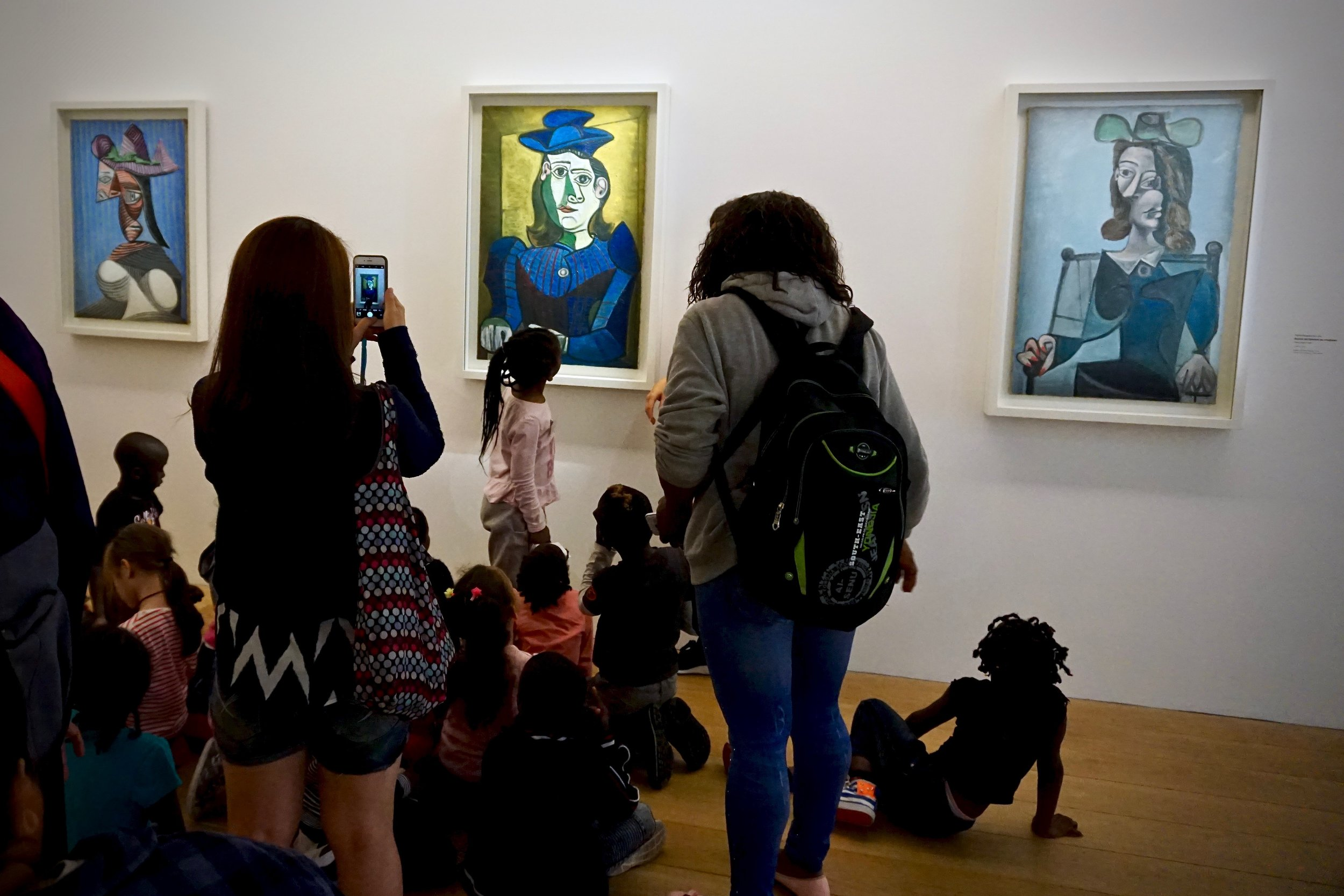 French school children receiving art education at the Musée national Picasso