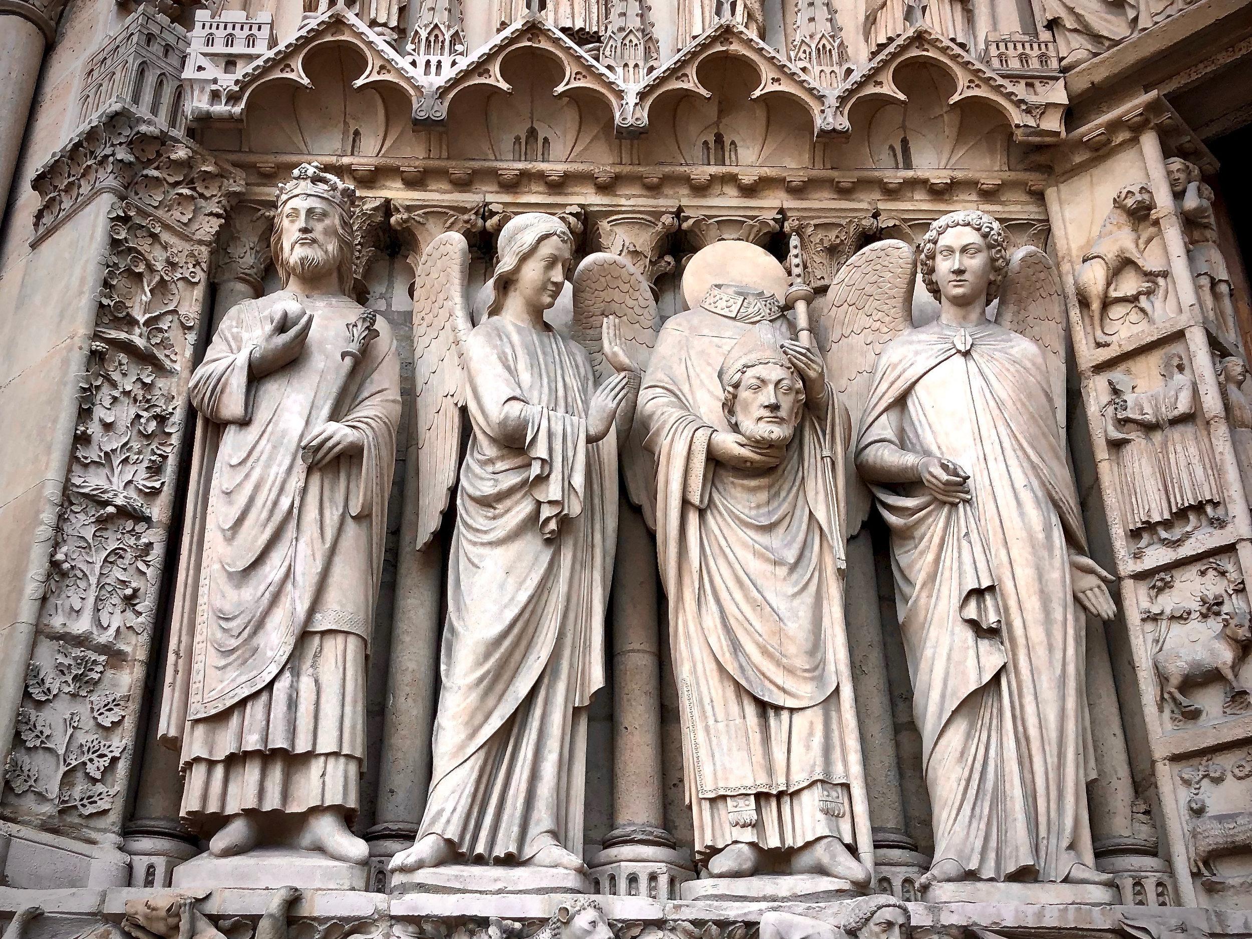 Exterior relief of Notre Dame