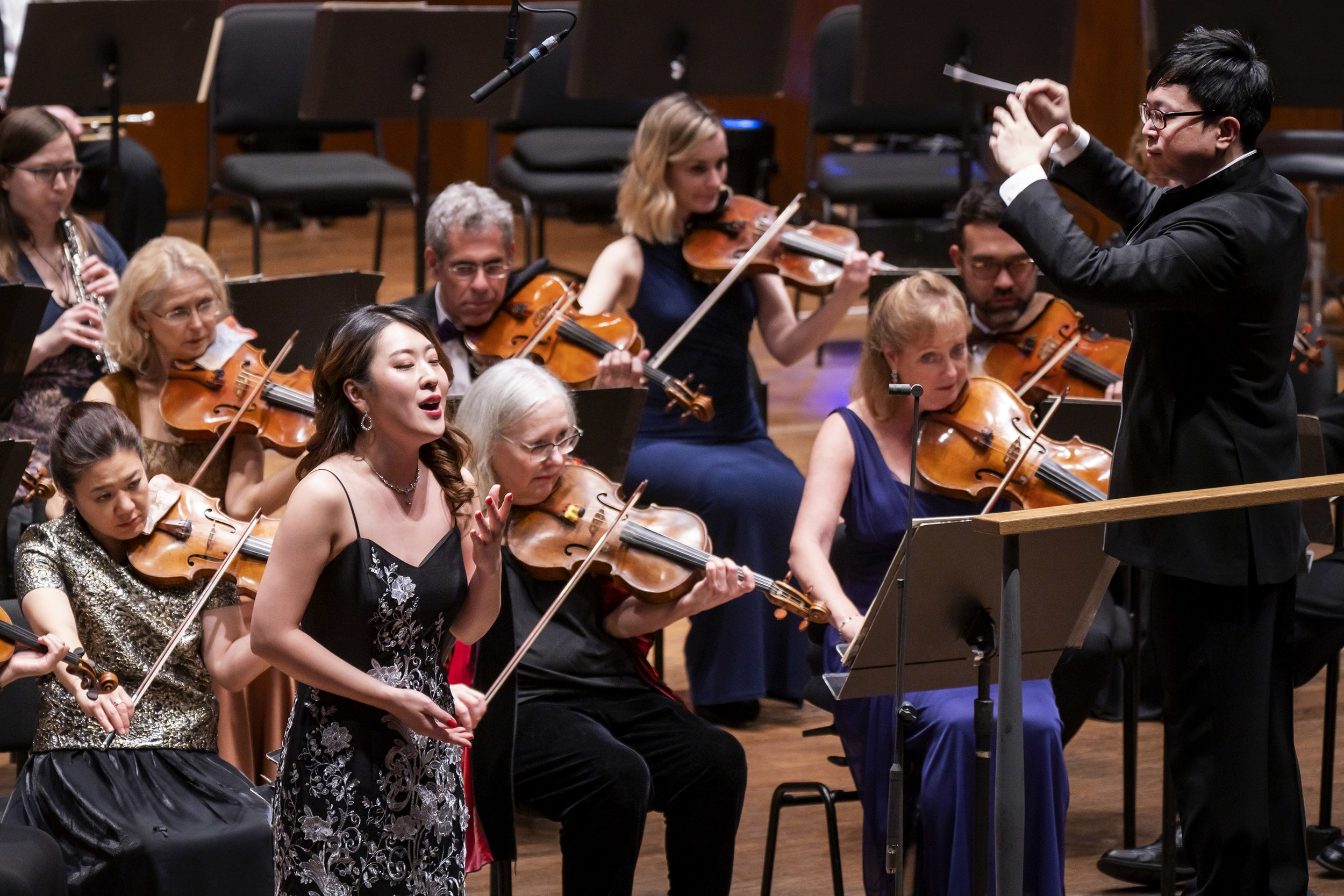 So Young Park, soprano and Kahchun Wong, conductor. Photo: Chris Lee