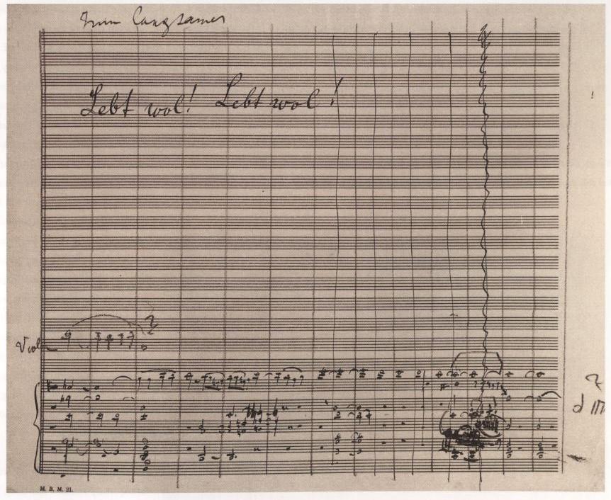 Mahler's manuscript of the last movement.