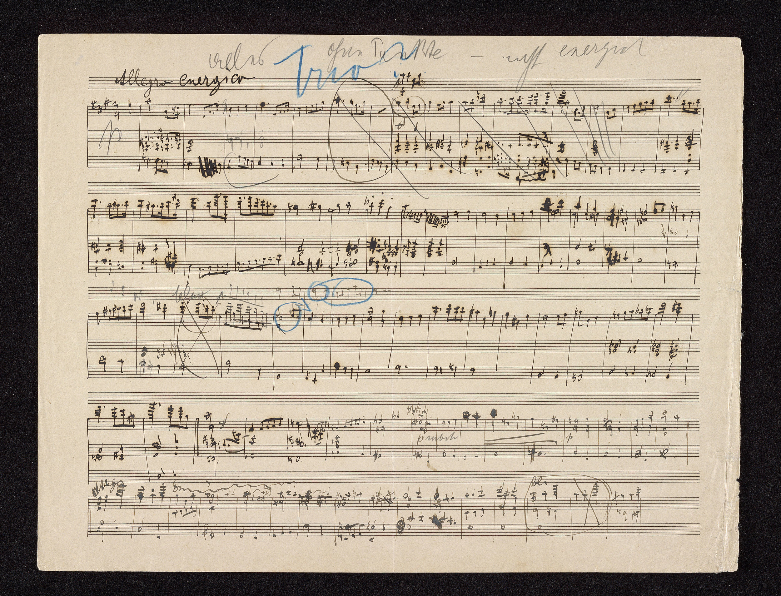 Mahler's Sketch for the first movement.