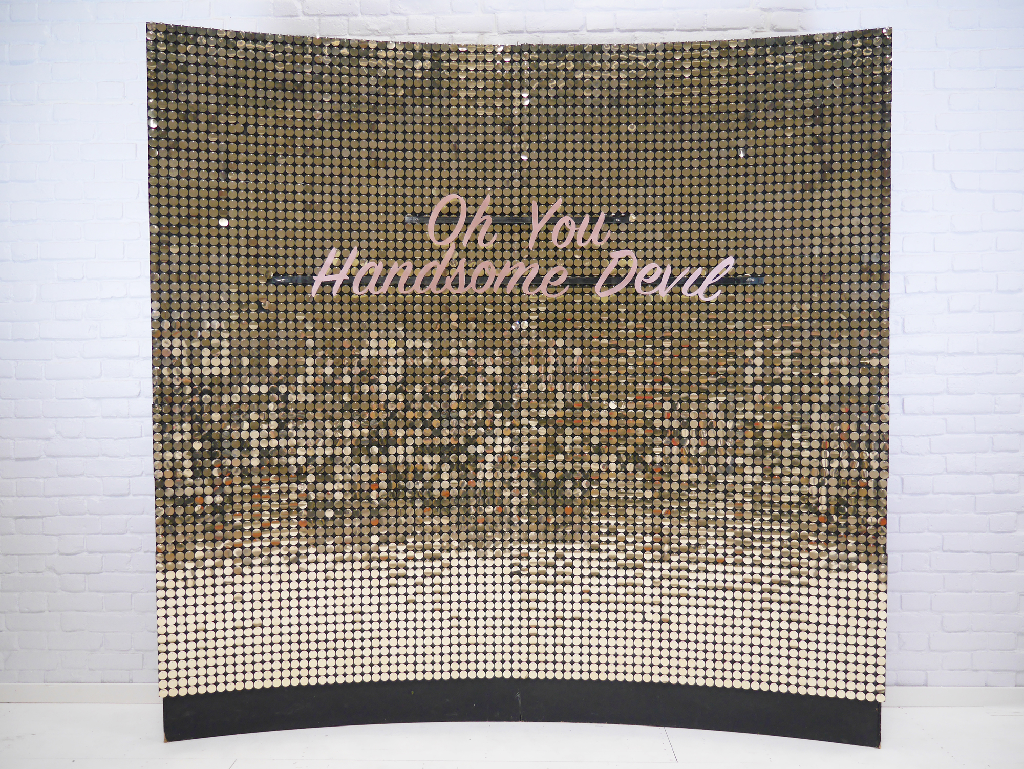 Gold Shimmer Sequin Wall Vowed and Amazed.jpg
