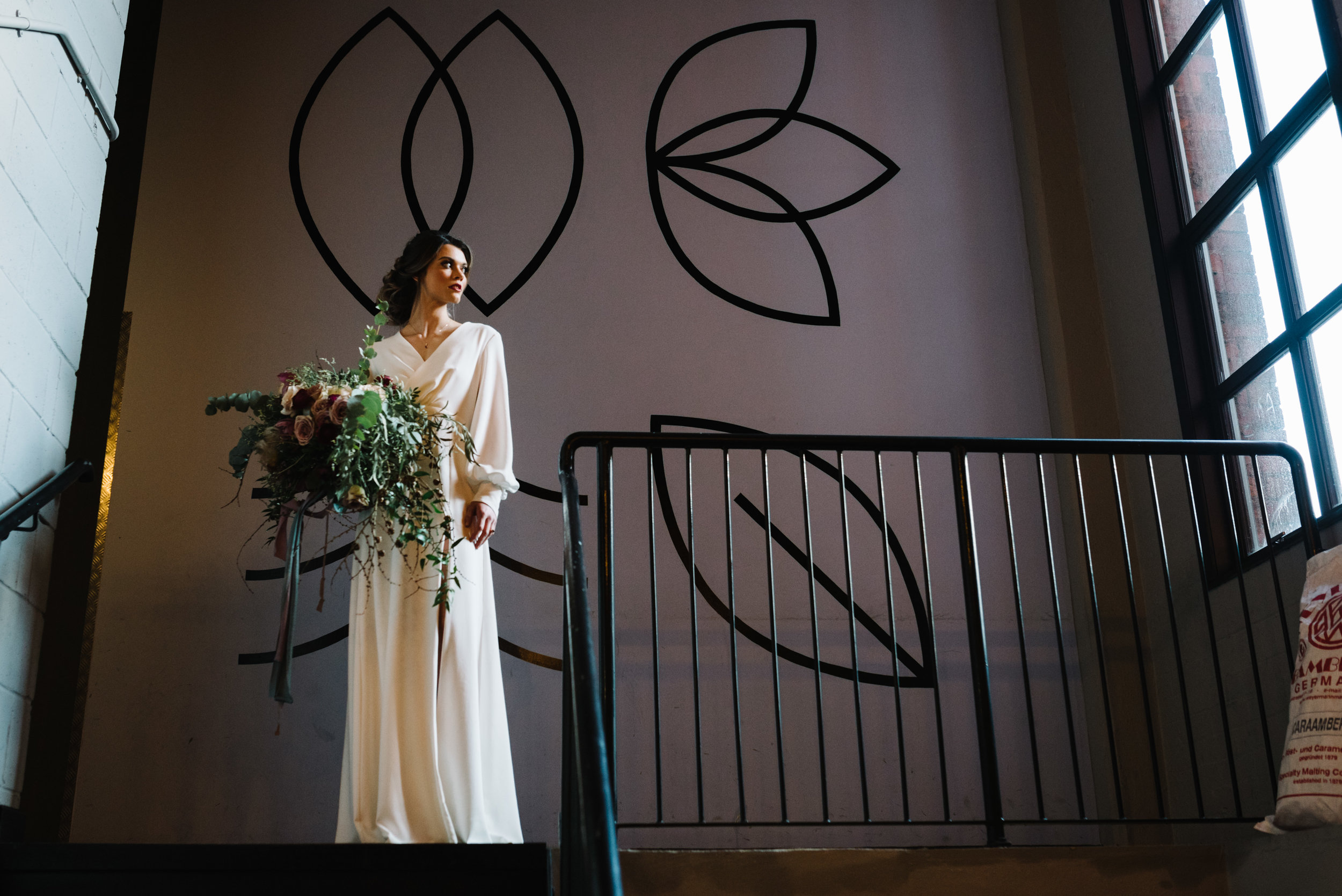 Modern Wedding Inspiration Shoot in Glasgow Brewery With a Frill Installation, Candy Floss and Neon 00179.jpg