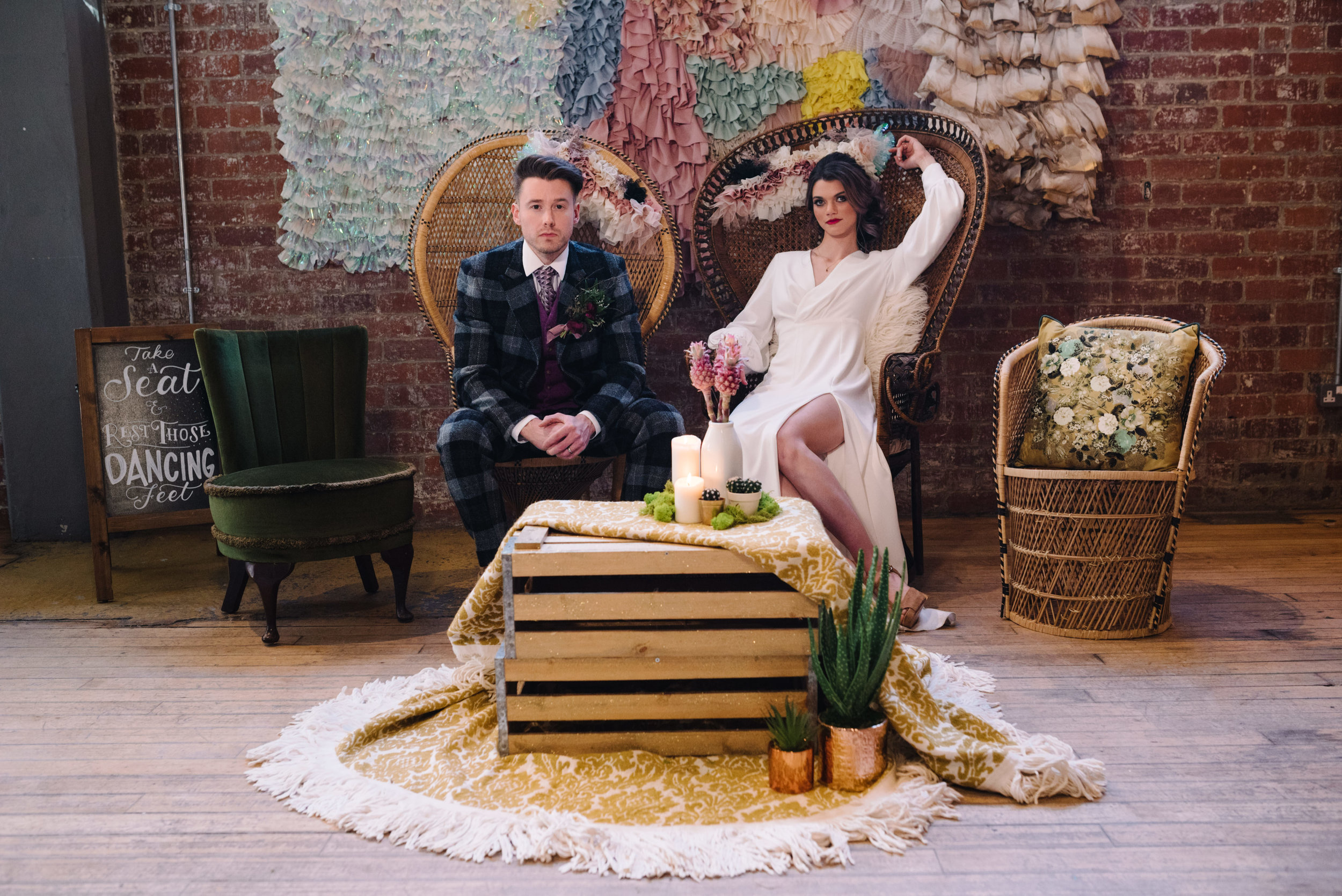 Modern Wedding Inspiration Shoot in Glasgow Brewery With a Frill Installation, Candy Floss and Neon 00141.jpg