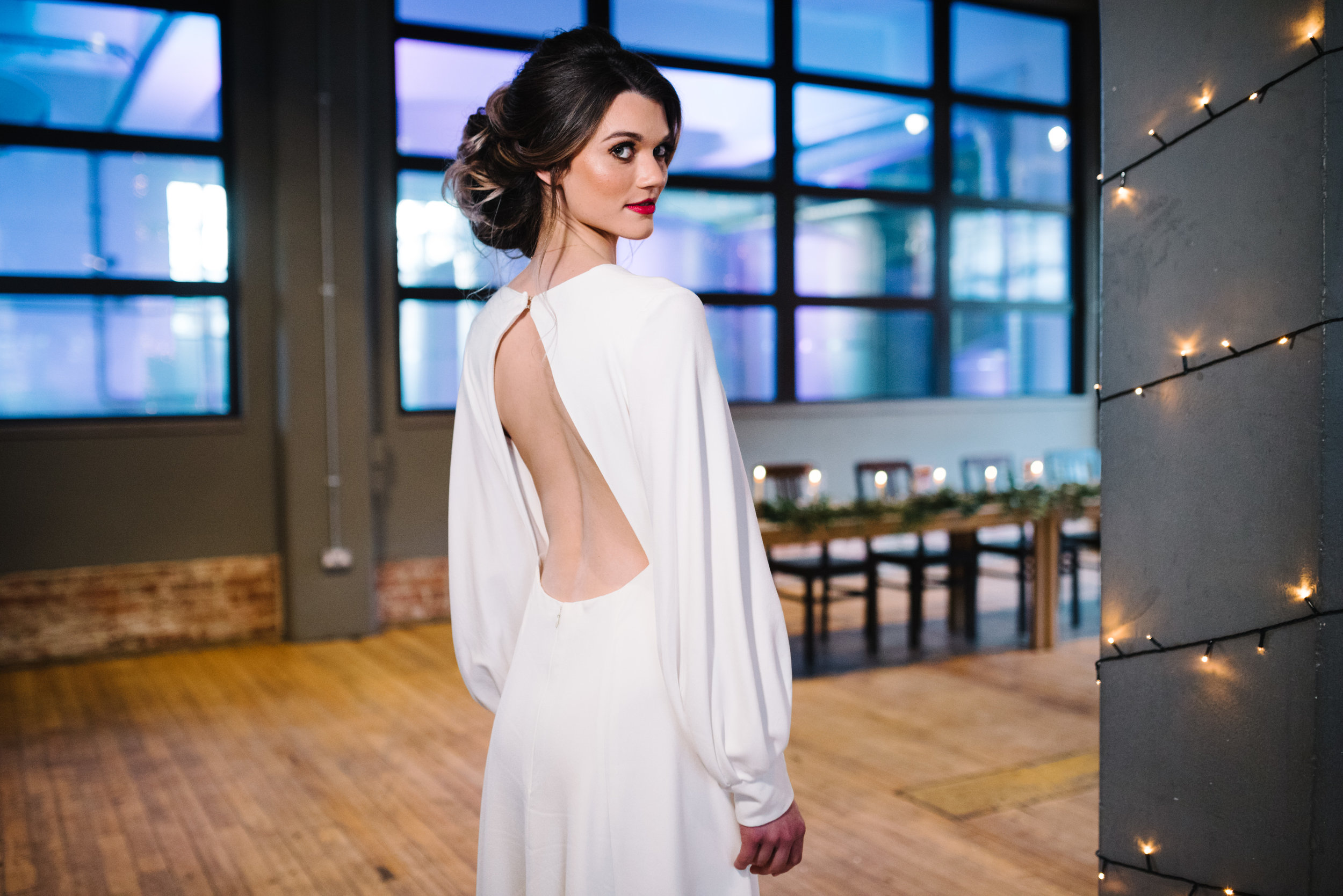 Modern Wedding Inspiration Shoot in Glasgow Brewery With a Frill Installation, Candy Floss and Neon 00205.jpg