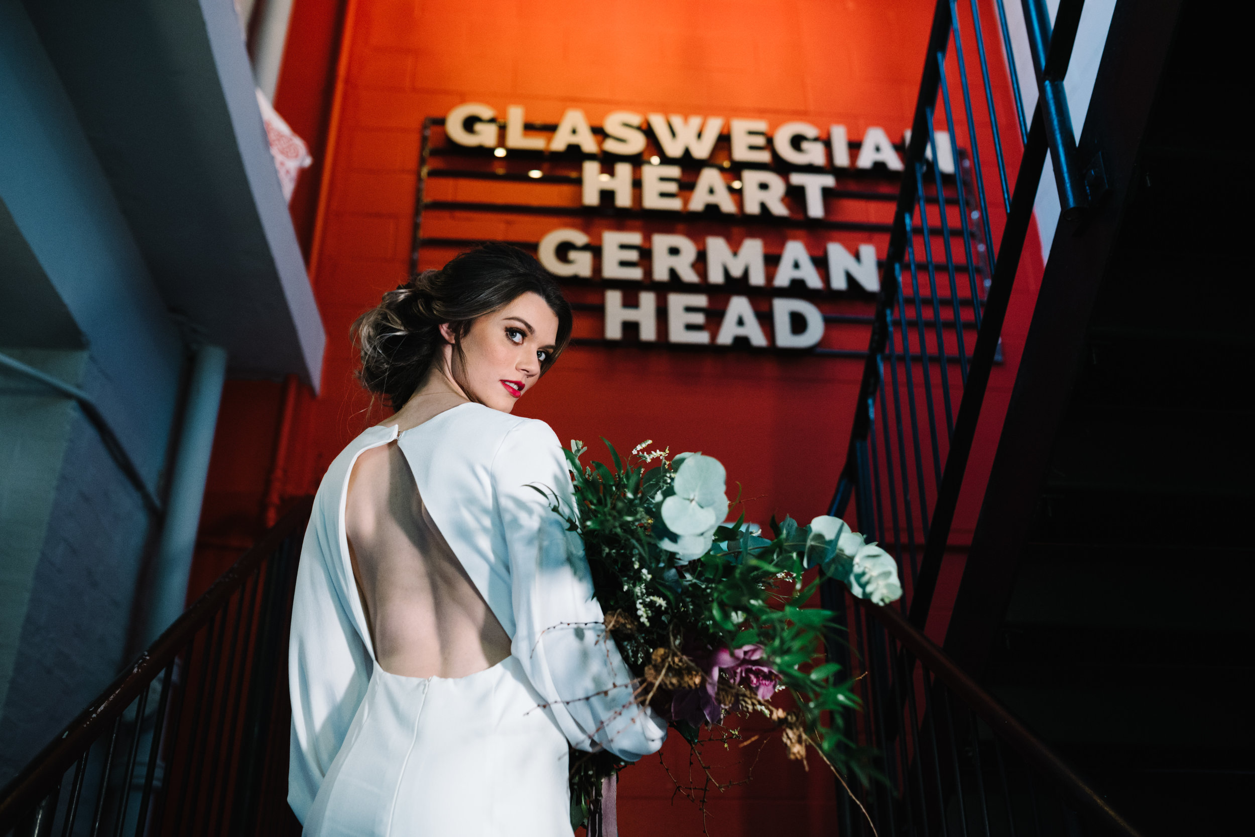Modern Wedding Inspiration Shoot in Glasgow Brewery With a Frill Installation, Candy Floss and Neon 00202.jpg