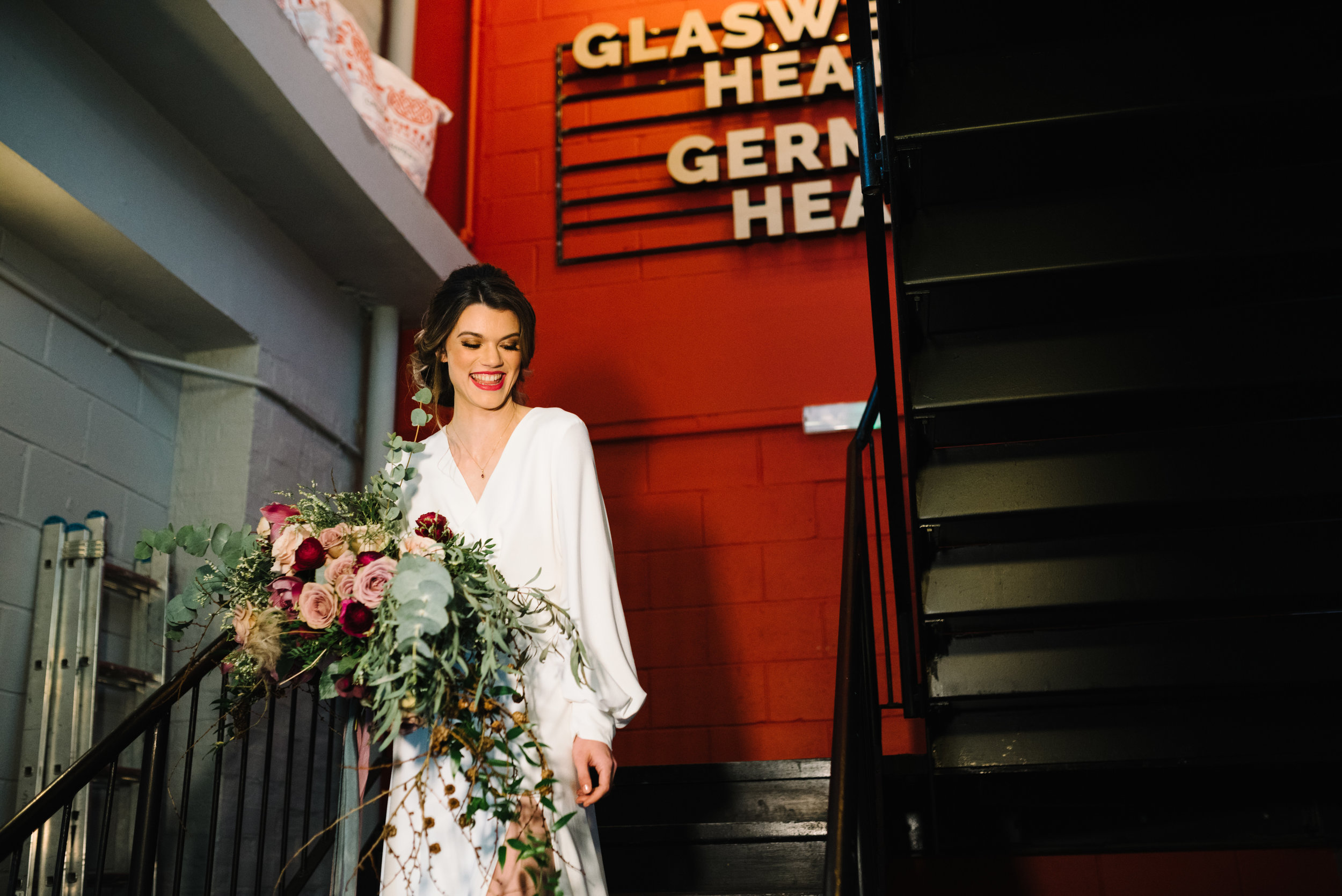Modern Wedding Inspiration Shoot in Glasgow Brewery With a Frill Installation, Candy Floss and Neon 00182.jpg
